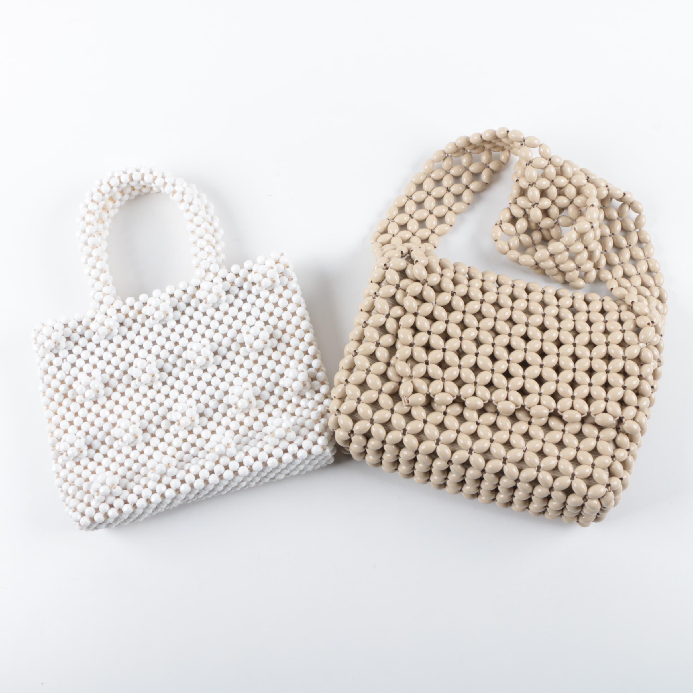 Circa 1960s Italian Hand Beaded Handbags