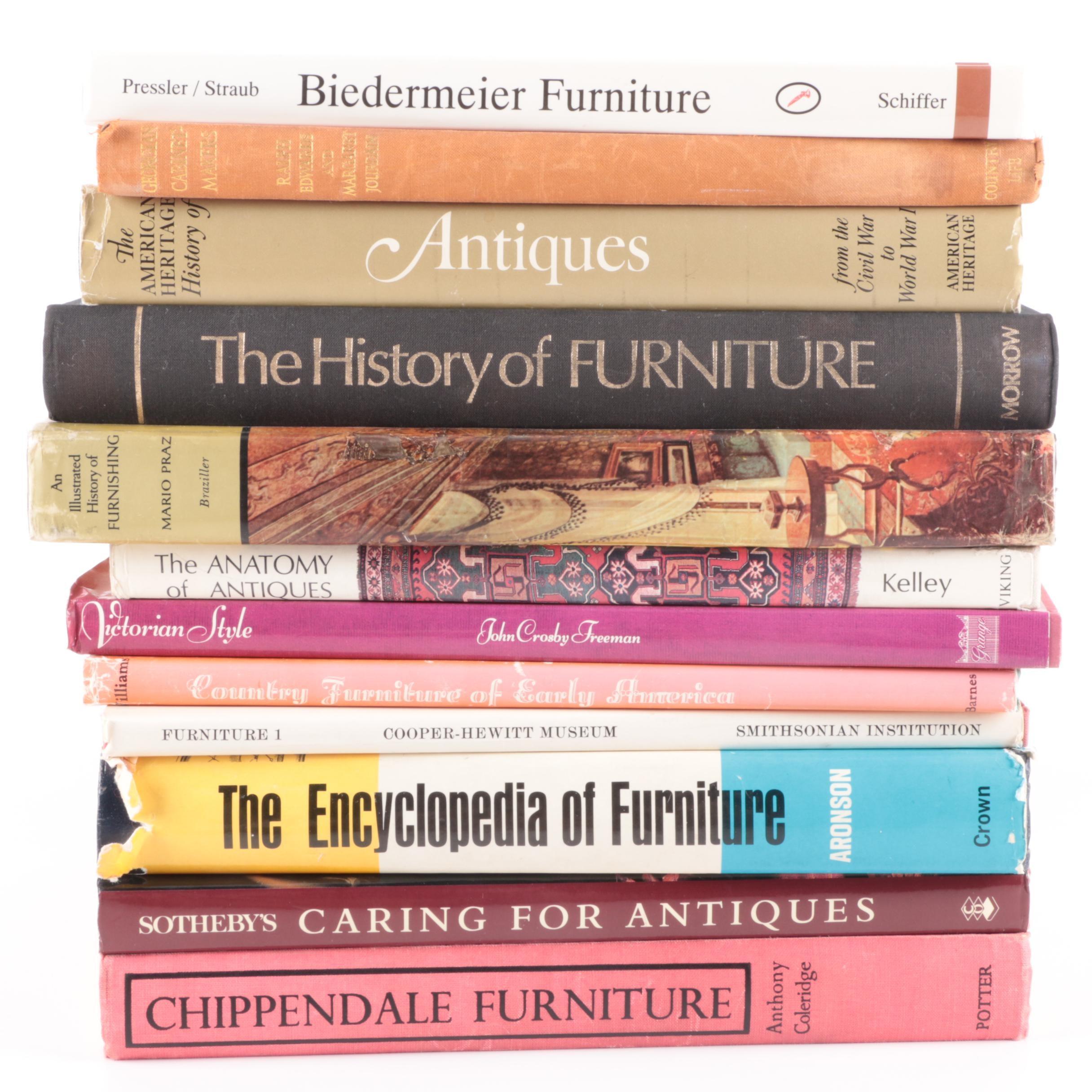 "Books on Furniture and Antiques Including 1996 ""Biedermeier Furniture"""