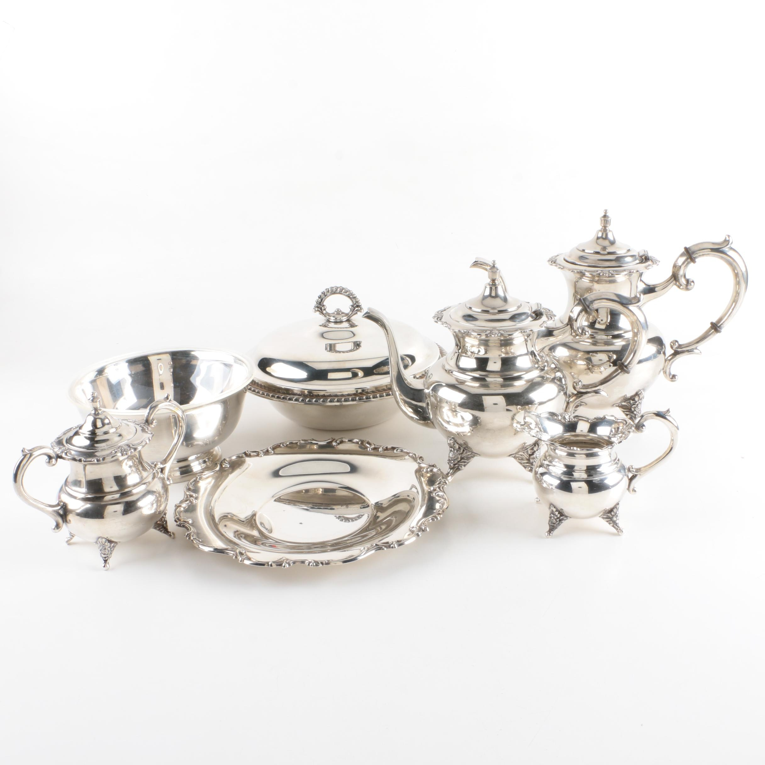 Silver Plate Serveware Featuring Gorham and International Silver Co.