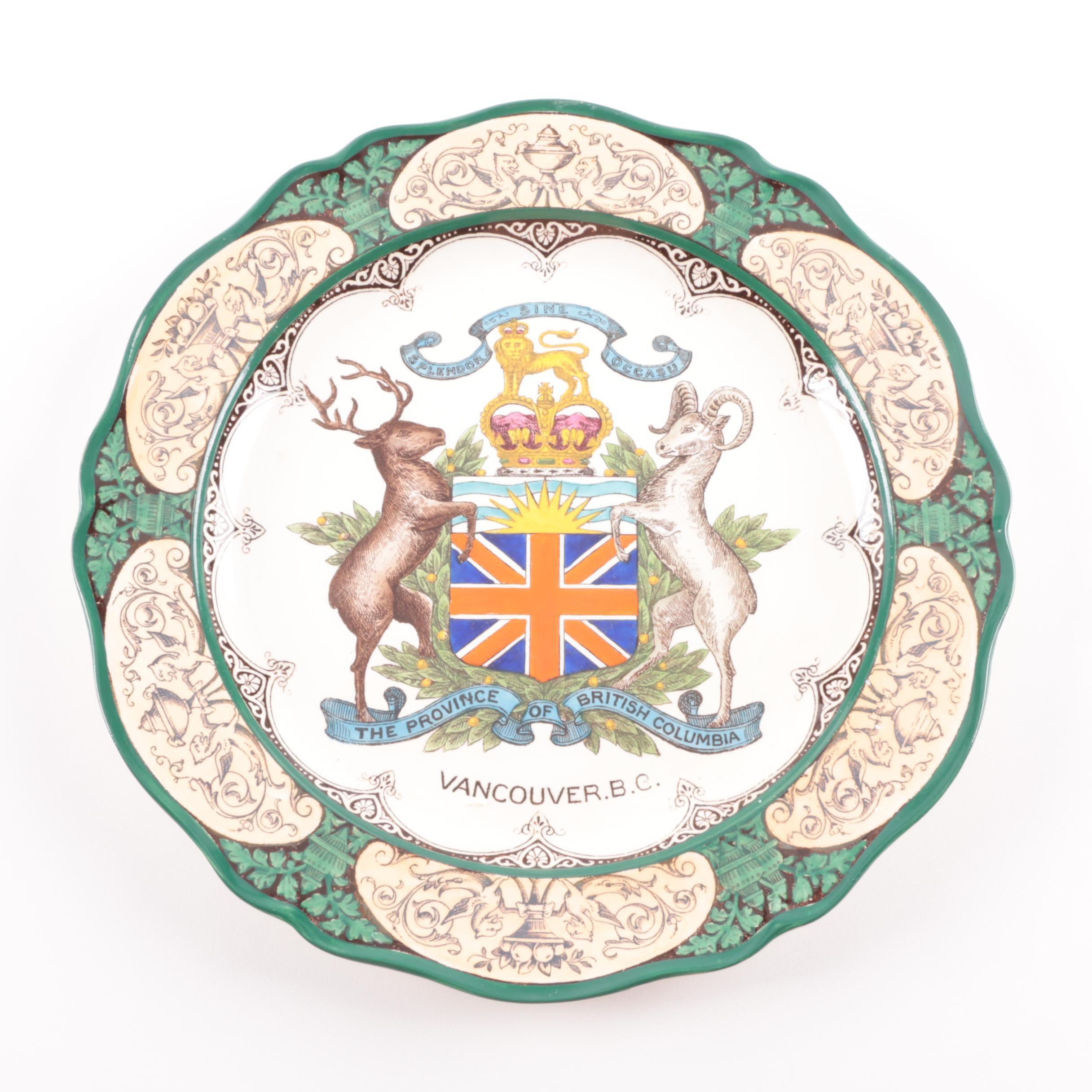 Vintage Vancouver Commemorative Porcelain Plate by Wedgwood