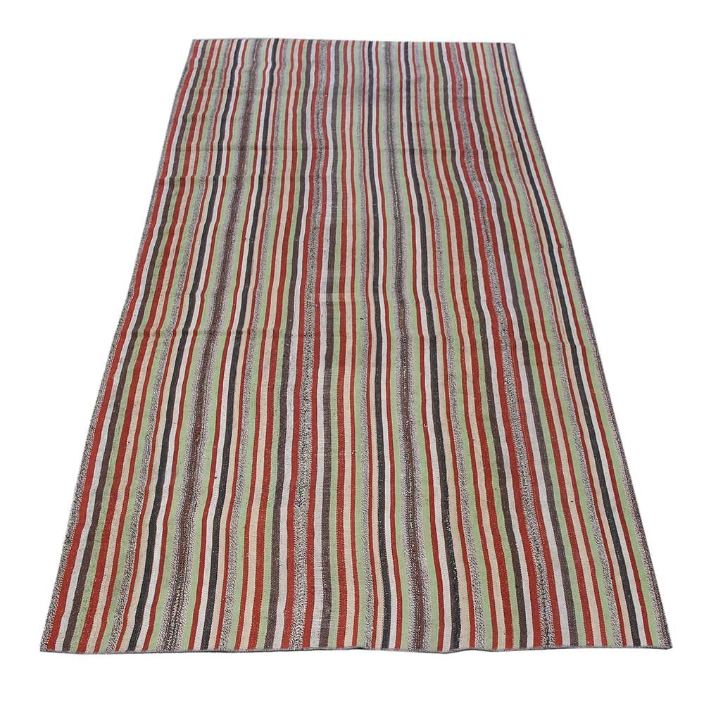 Handwoven Kurdish Sanandaj Wool Area Kilim