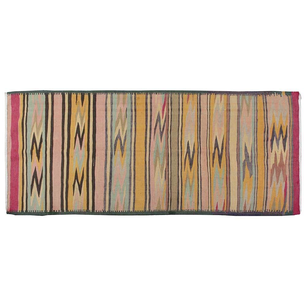 Handwoven Persian Meshgin Shahr Wool Kilim