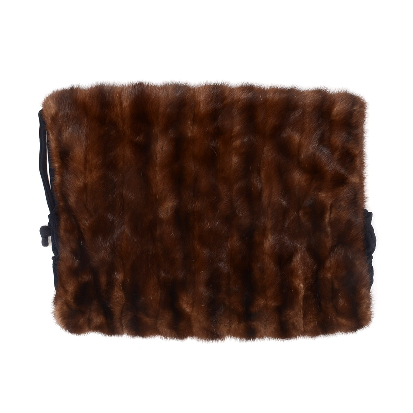 Vintage Dark Brown Mink Fur Muff