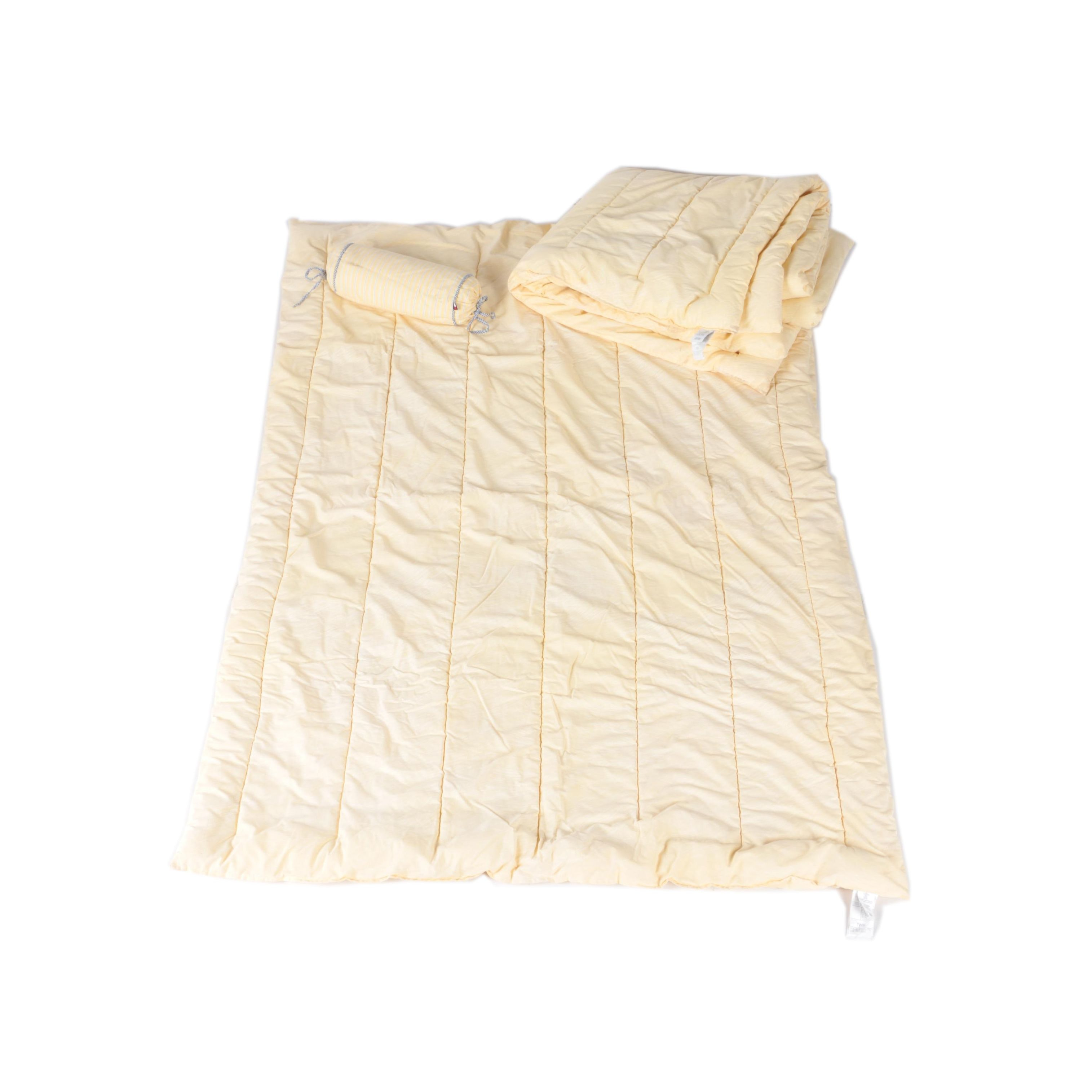 Yellow Twin Sized Comforters with Tommy Hilfiger Bolster Pillow
