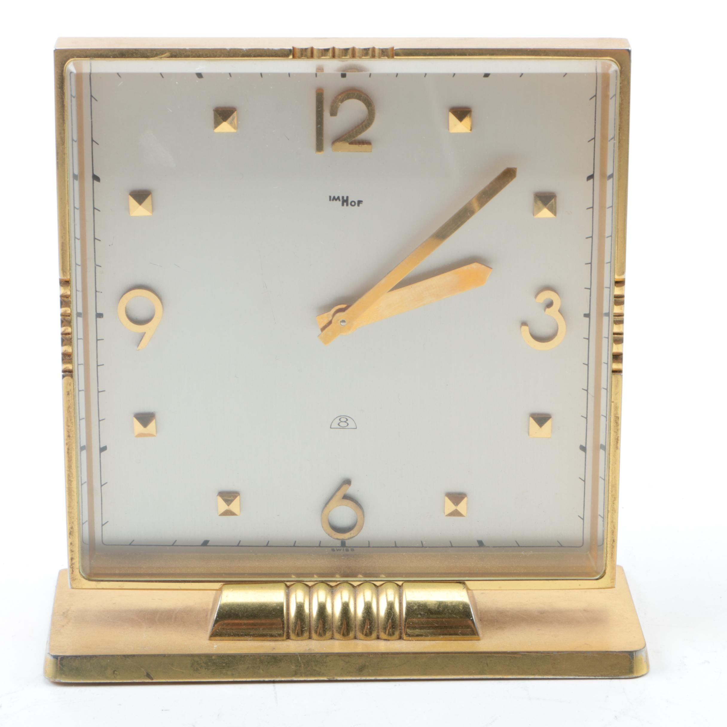 Imhof Swiss Art Deco Shelf Clock