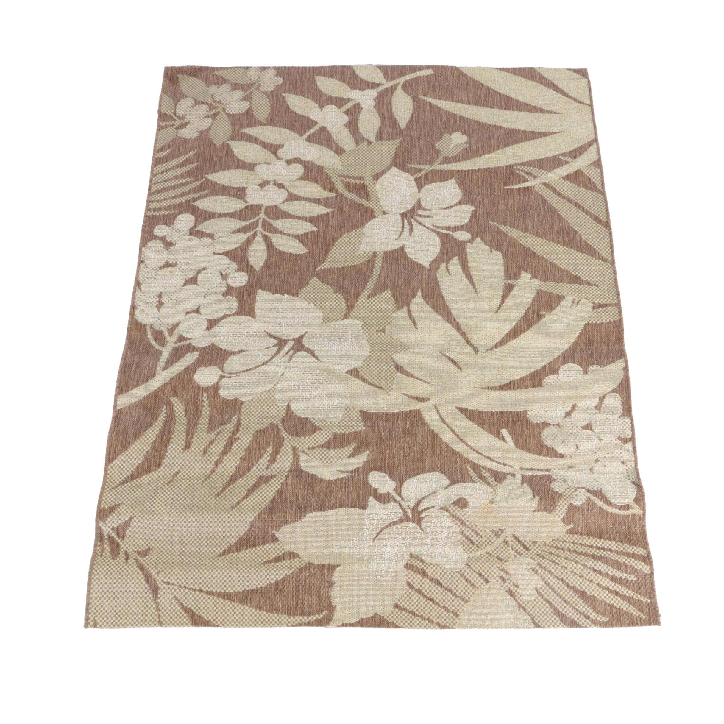 Power-Loomed Floral Indoor/Outdoor Area Rug