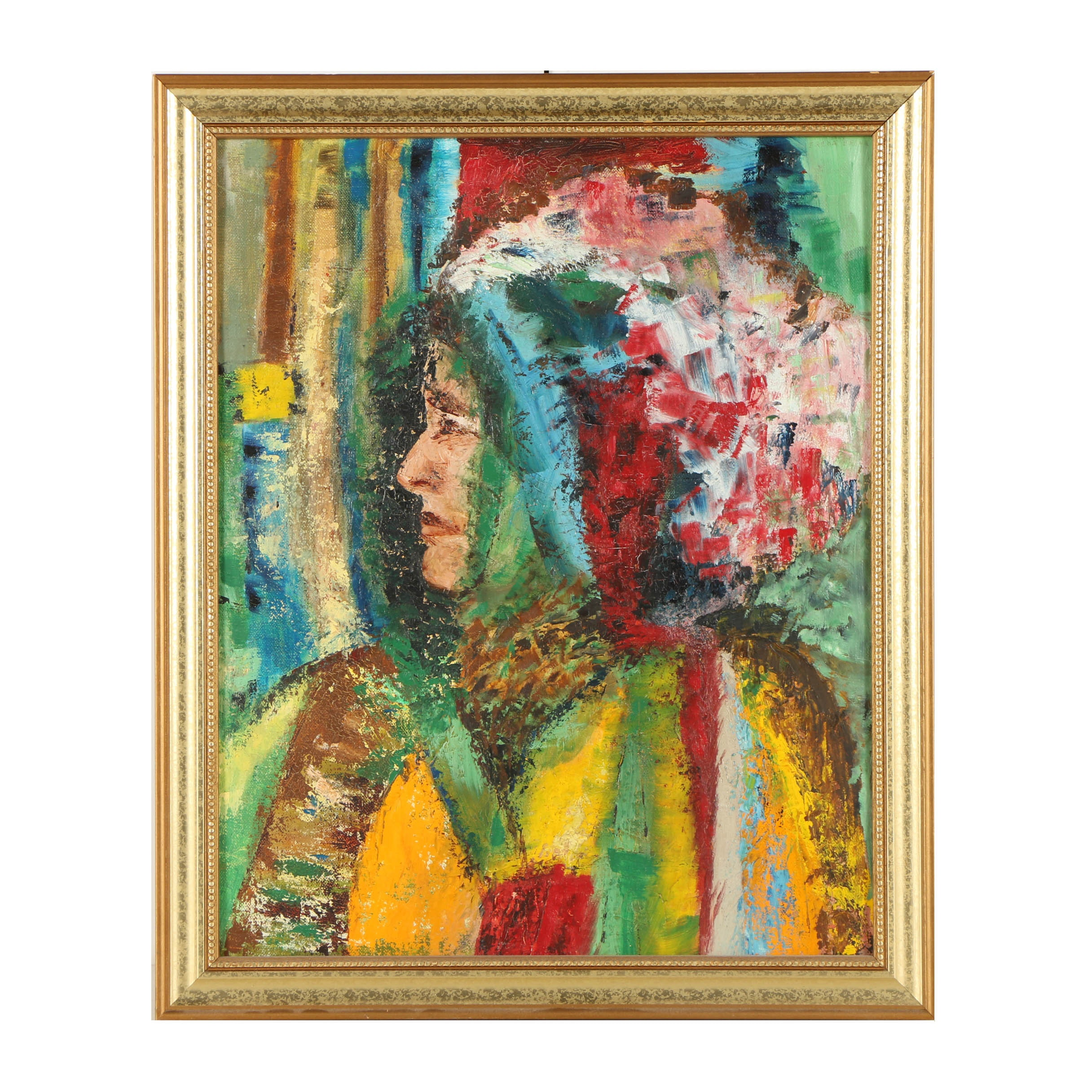 Abstract Oil Painting of a Portrait