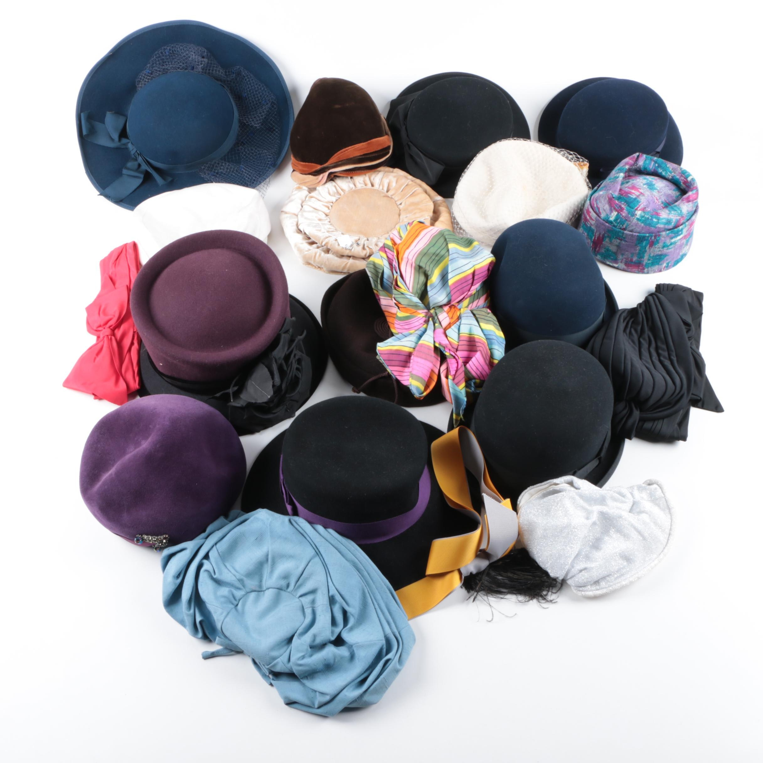 Vintage Women's Hats, Including Frank Olive
