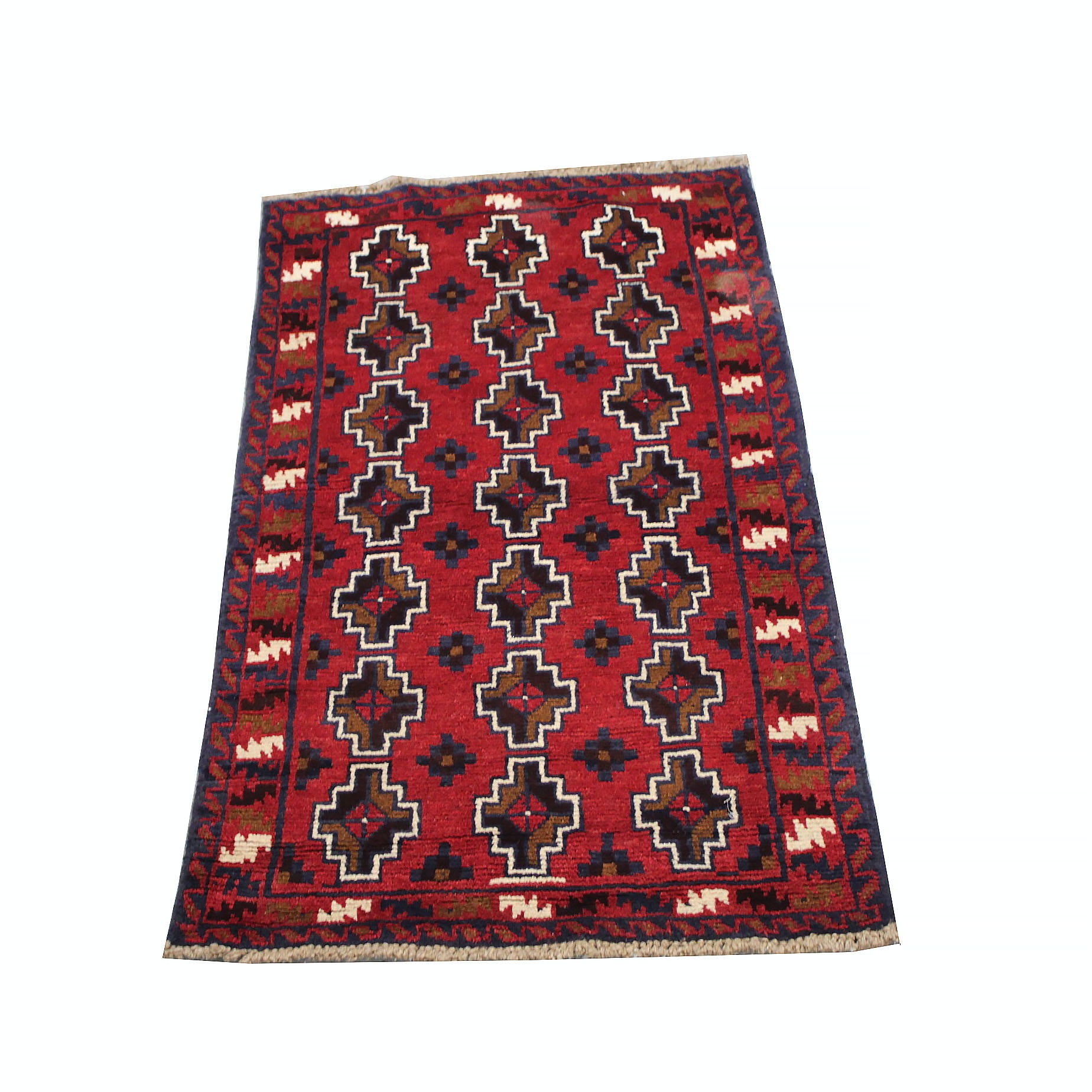 Hand-Knotted Northwest Persian Tribal Accent Rug