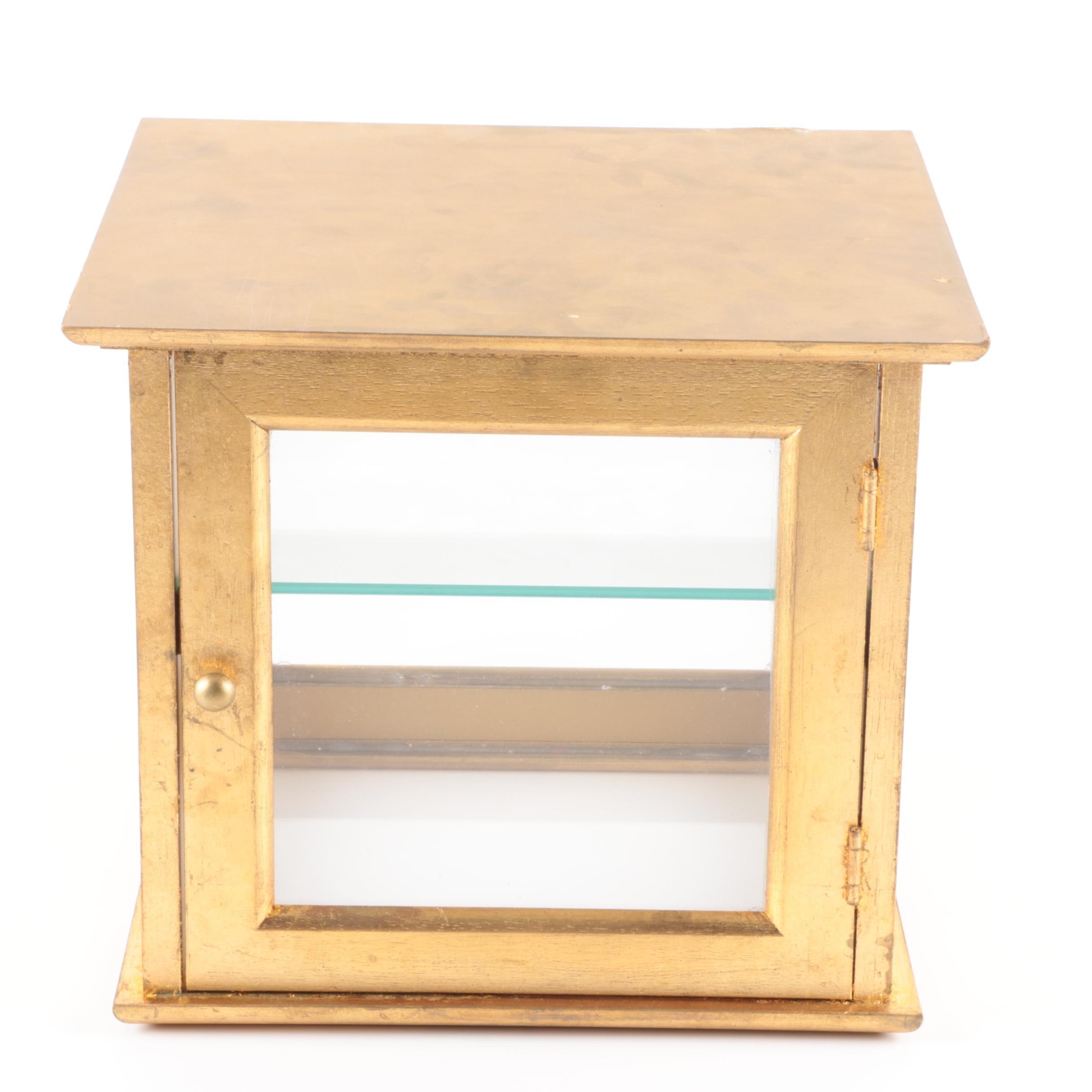Gold Toned Display Box