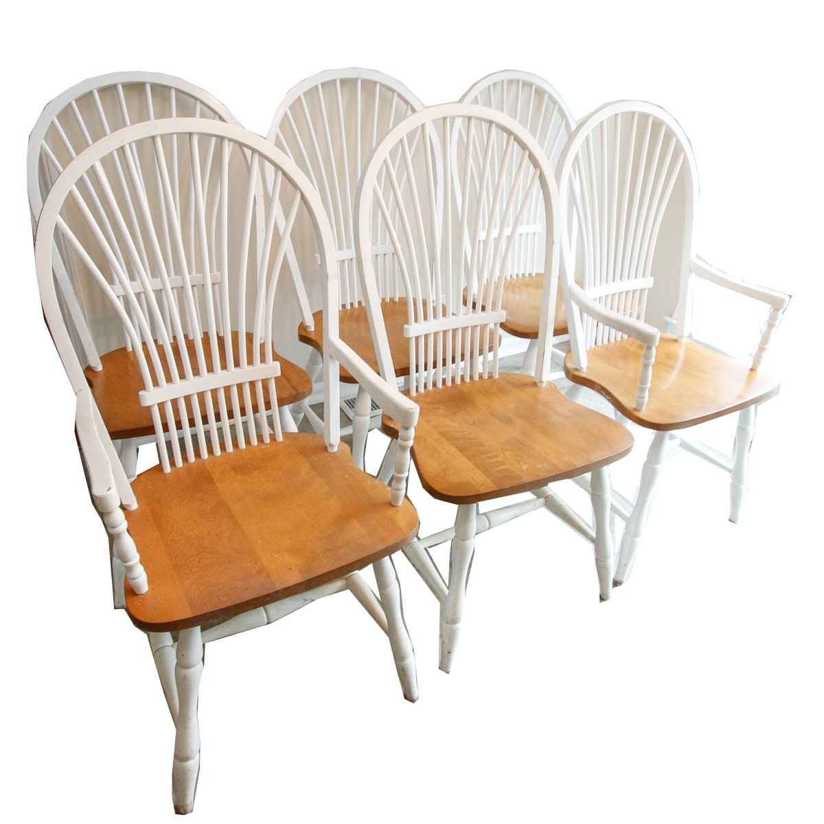 Vintage Windsor Style Dining Chairs