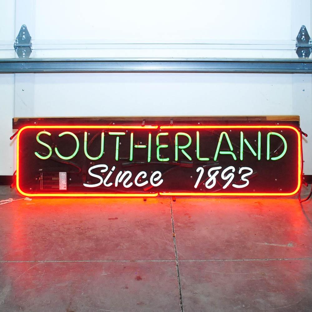"Vintage ""Southerland"" Neon Light"