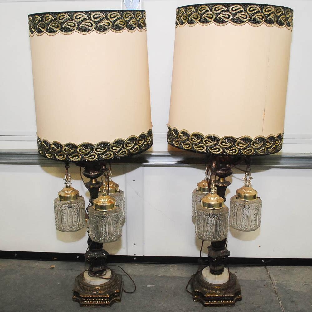 Elegant Vintage Hollywood Regency Table Lamps ...