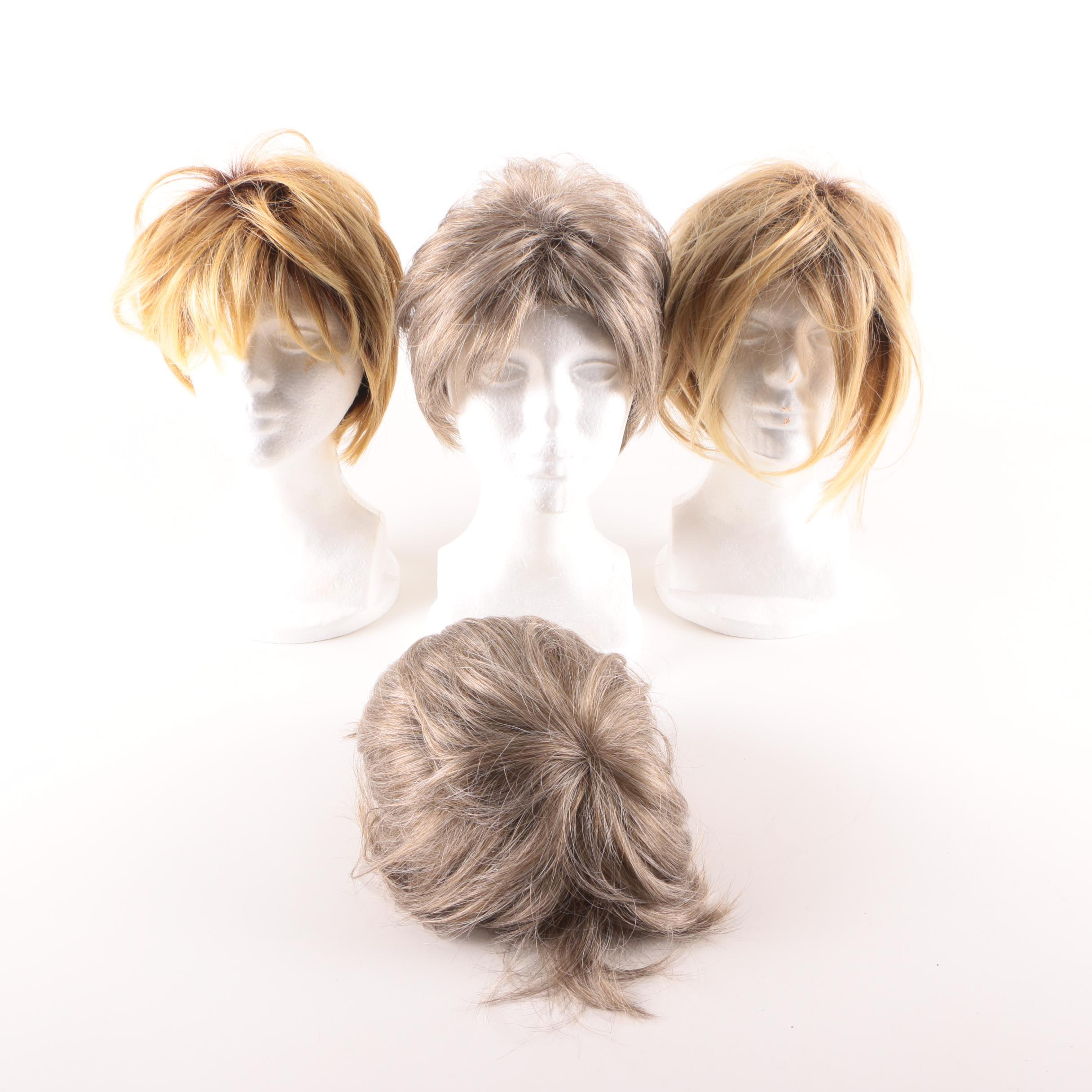 Synthetic Wigs and Styrofoam Head Mannequins