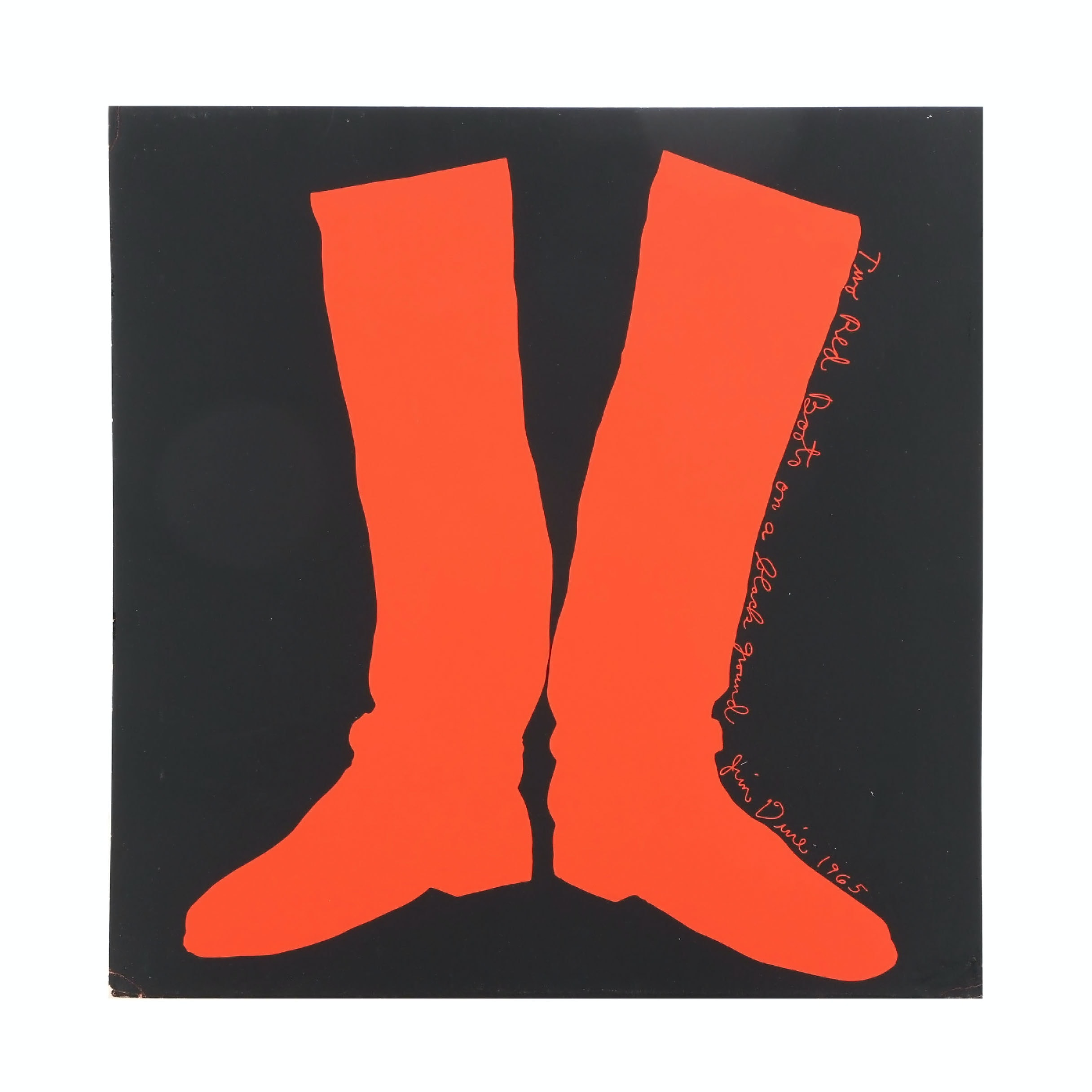 "Jim Dine Serigraph ""Two Red Boots on a Black Ground"""