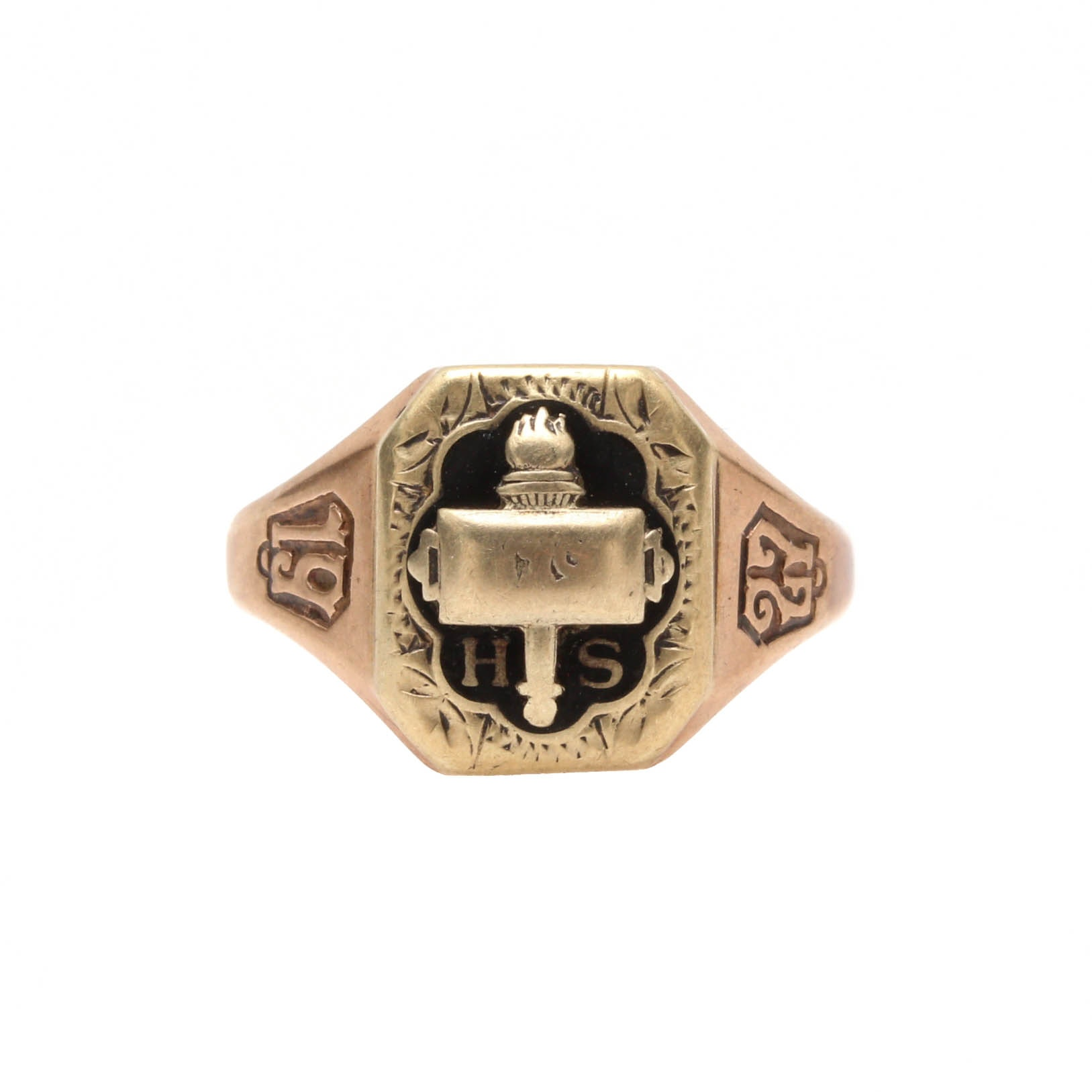 1927 10K Yellow Gold Class Ring