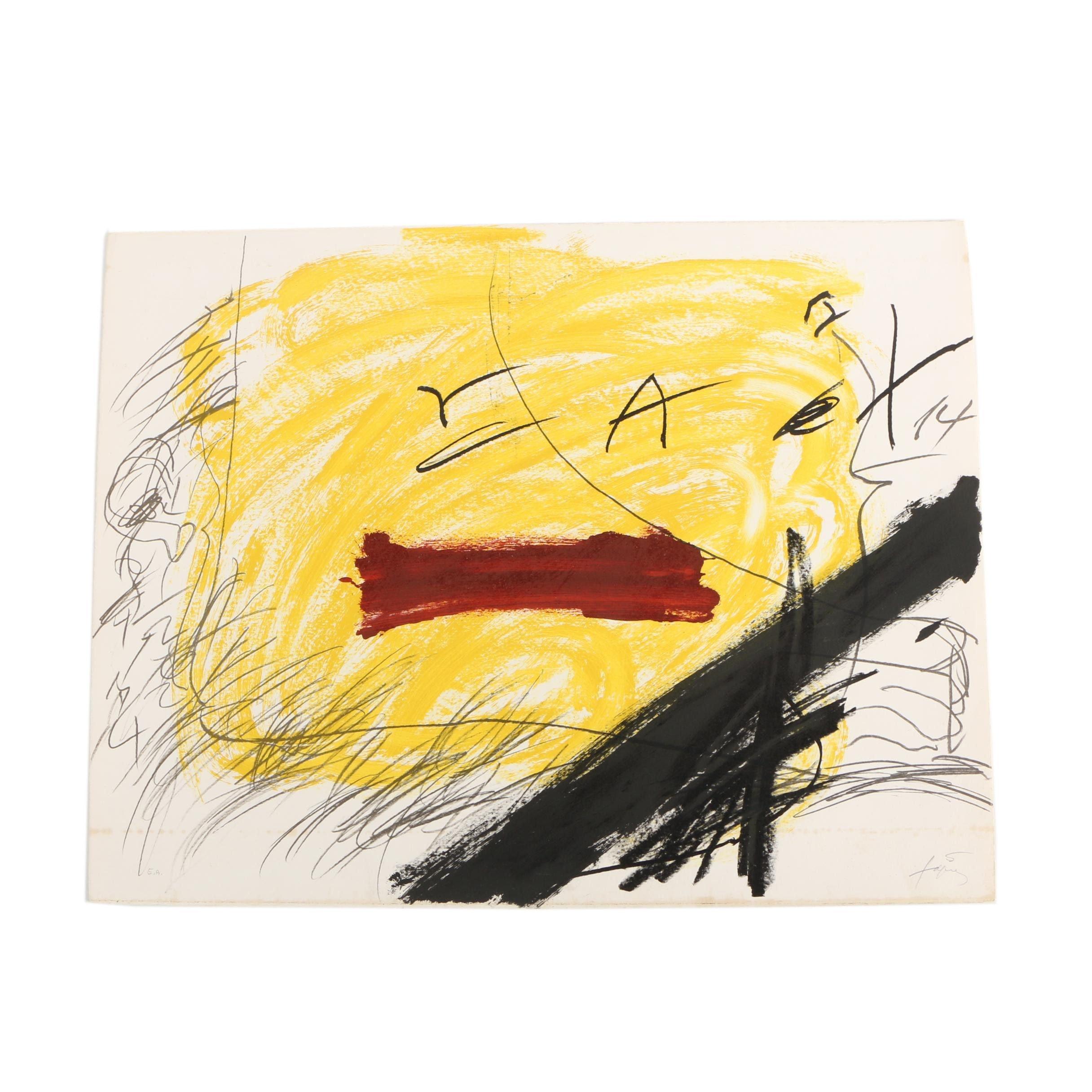 Antoni Tàpies Color Lithograph