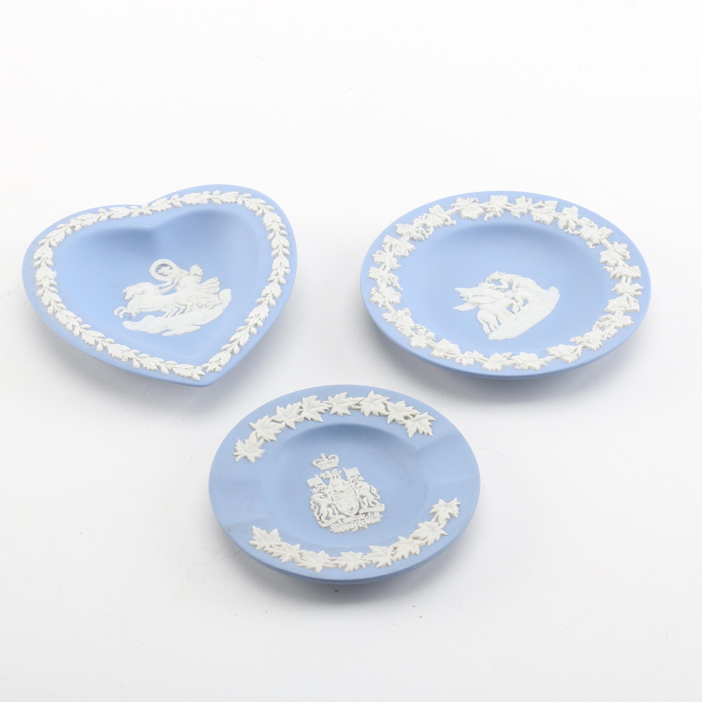 Wedgwood Blue Jasperware Plates