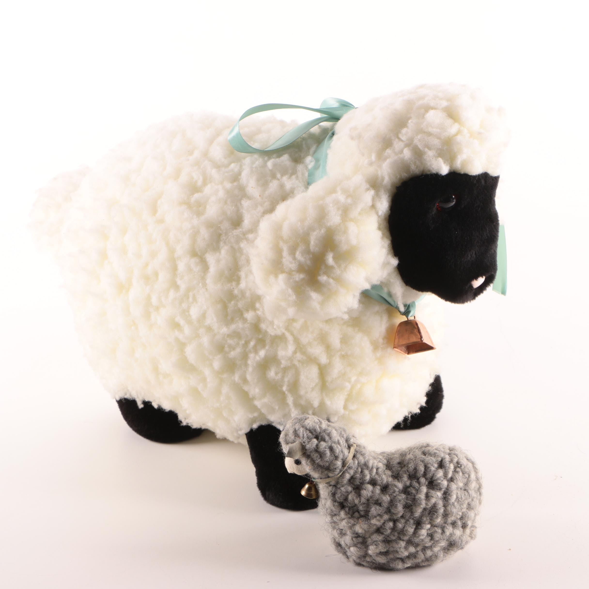 Plush Sheep Doll and Figurine