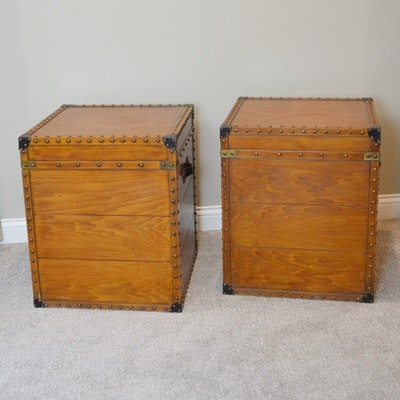 Wood Finished Cube Trunks