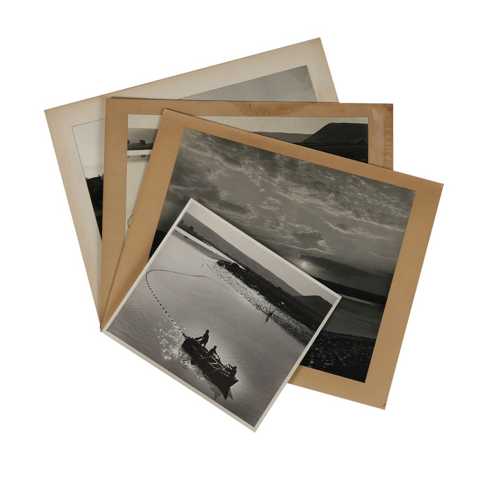 """Four Don Dover Black and White Photographs Including """"The River"""""""