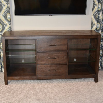 "Riverside ""Promenade"" Canted Television Console"
