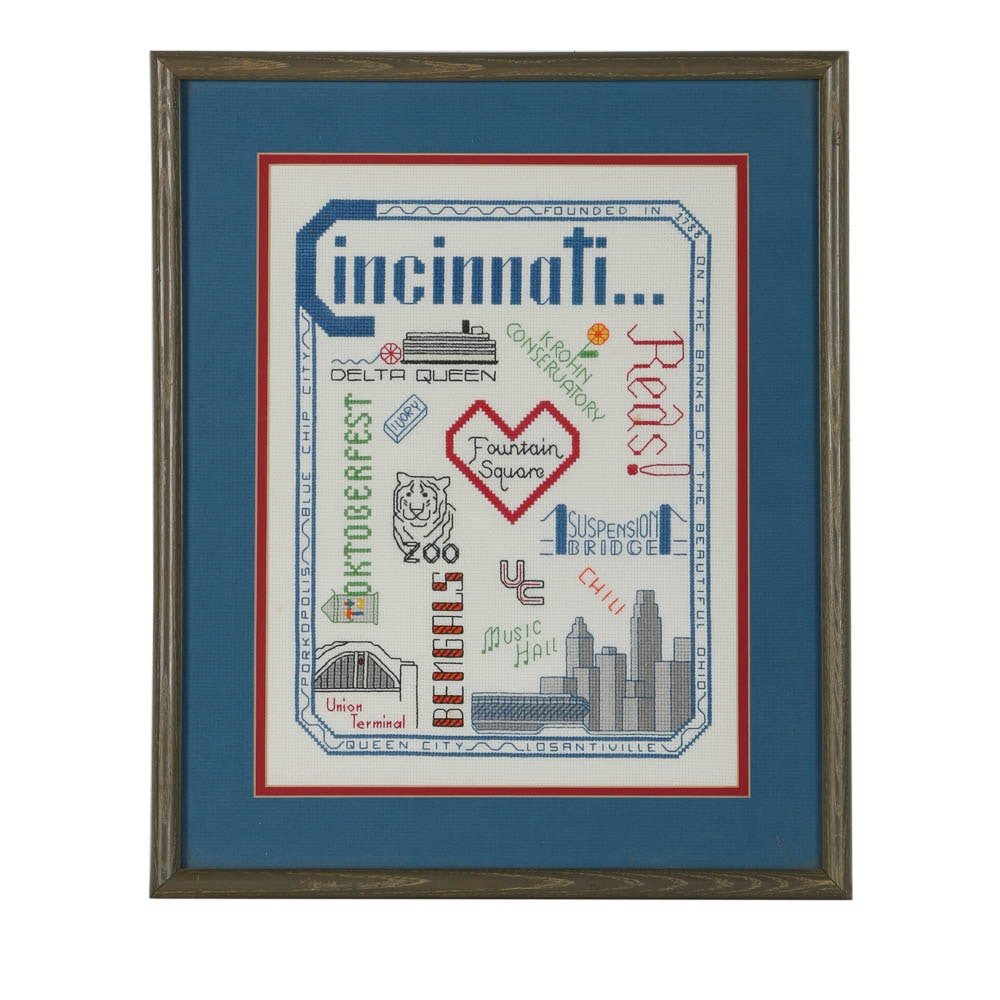 Cross-Stitch of Cincinnati Landmarks and Icons
