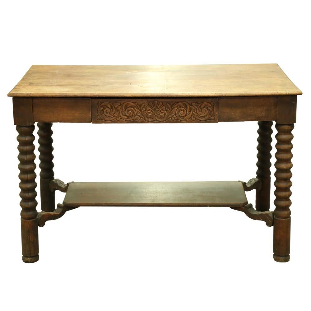 Antique Teacher's Table