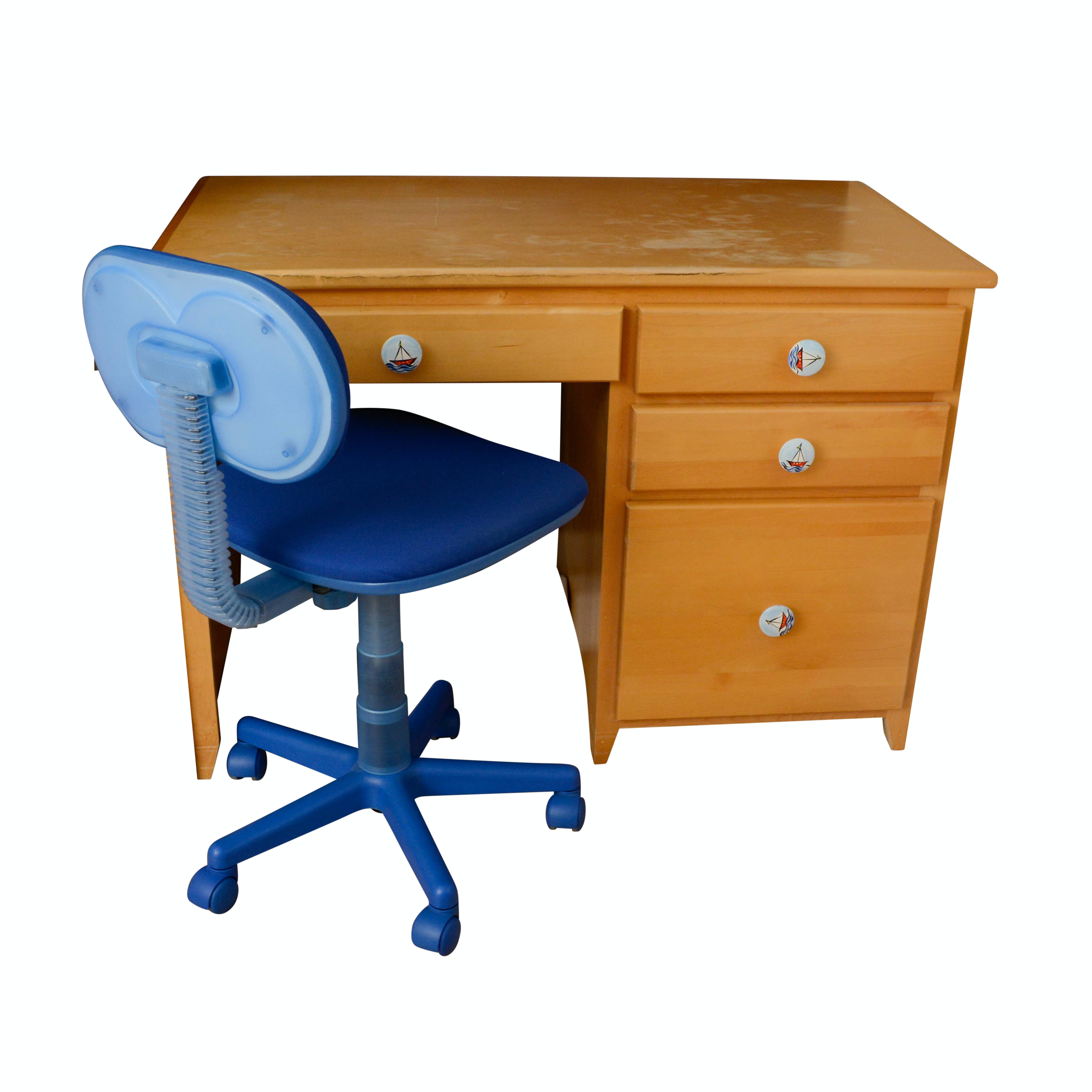 Maple Student Desk with Office Chair