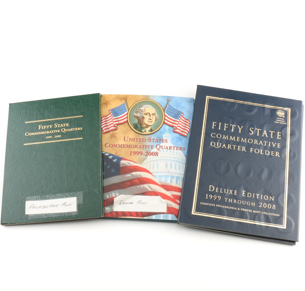 Three Folder Statehood Quarter Collection