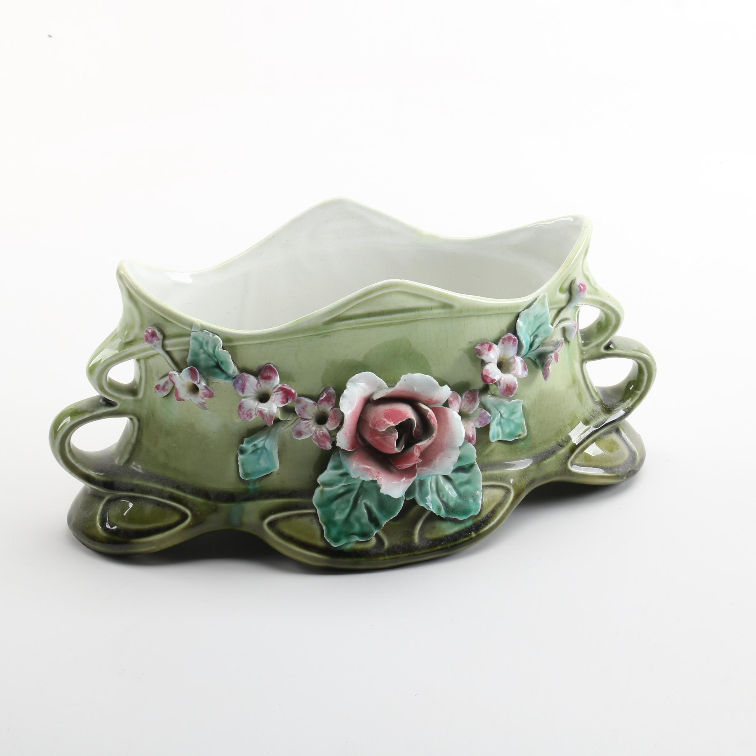 Belgian Porcelain Planter