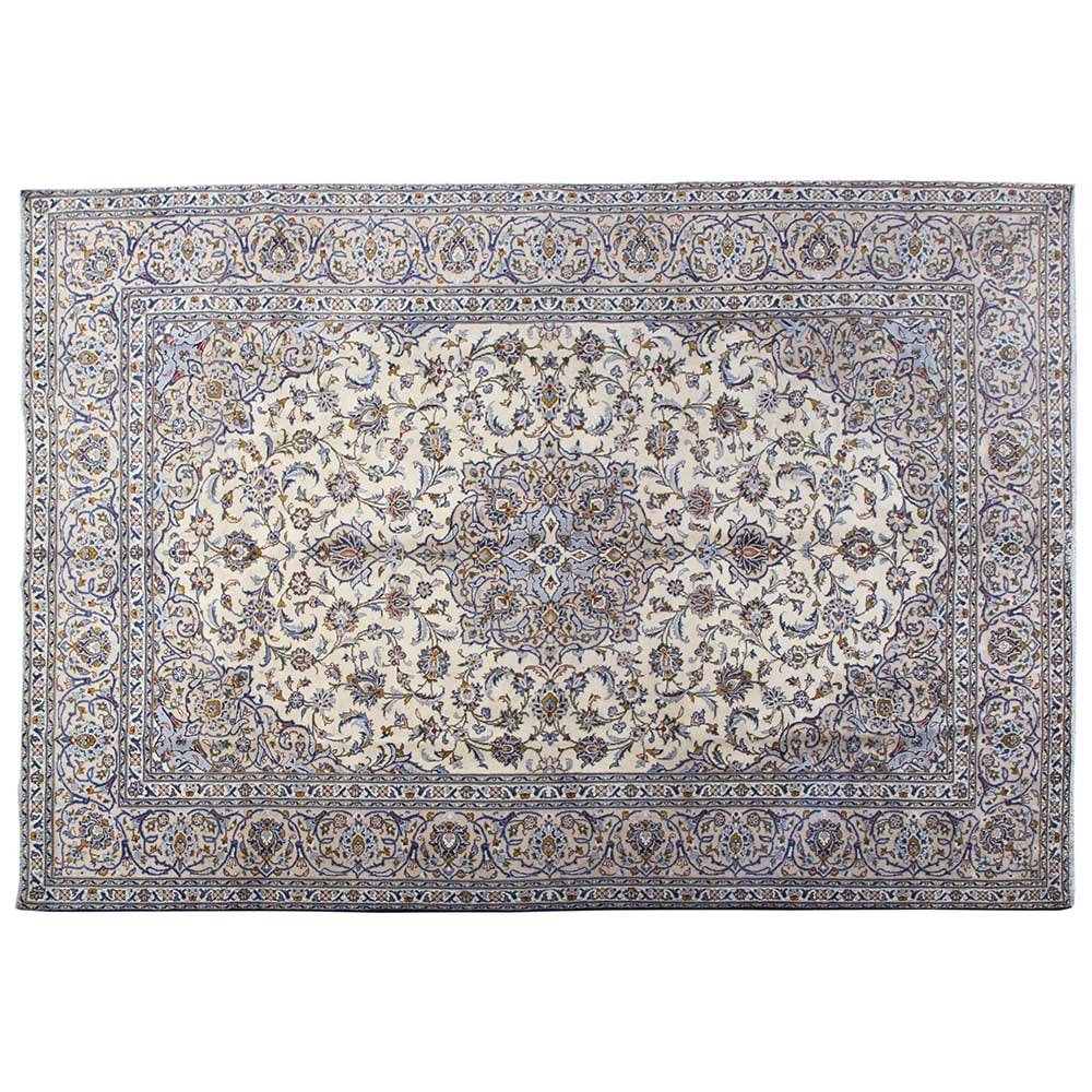 Hand-Knotted Persian Najafabad Isfahan Wool Area Rug