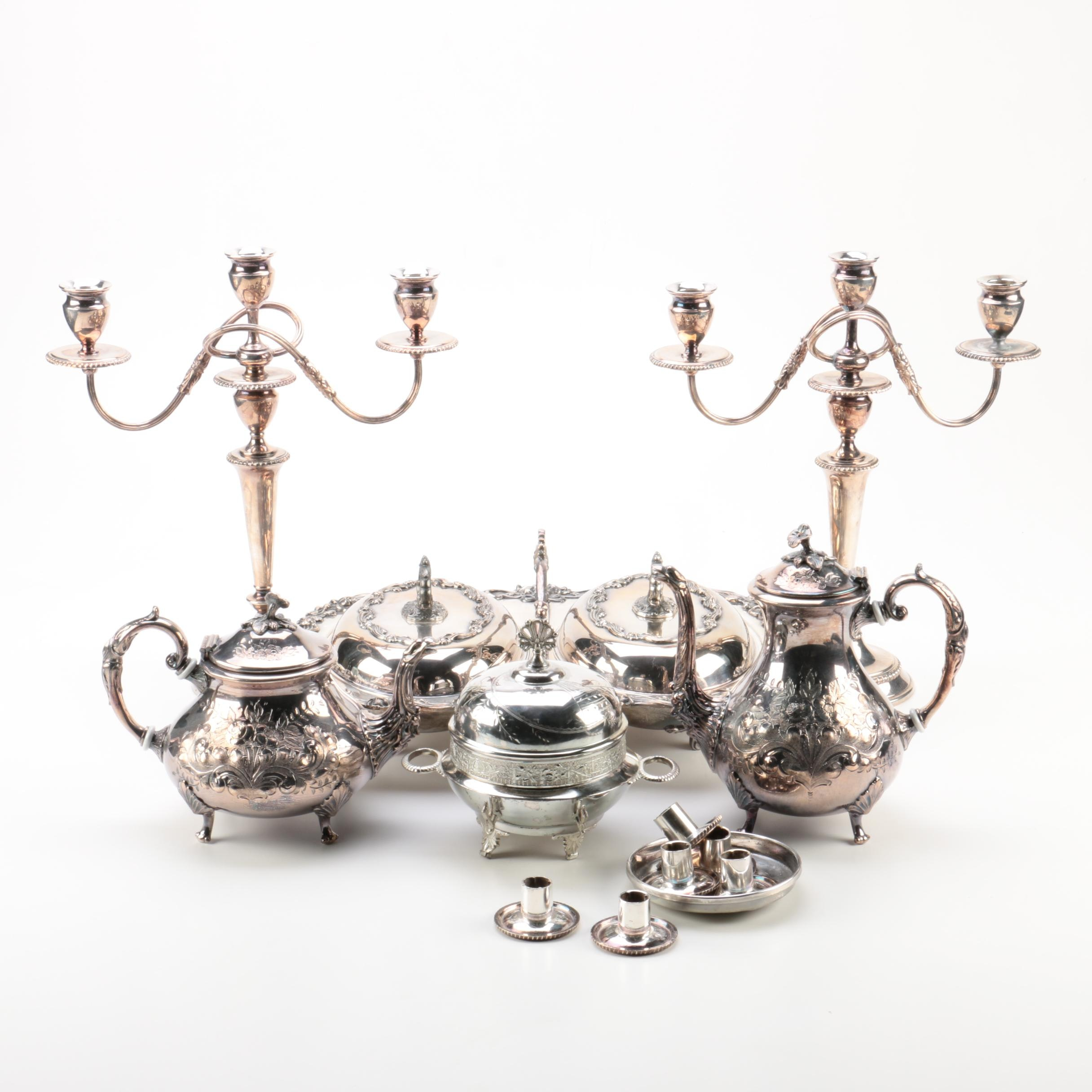 Silver Plate Serviceware and Table Accessories