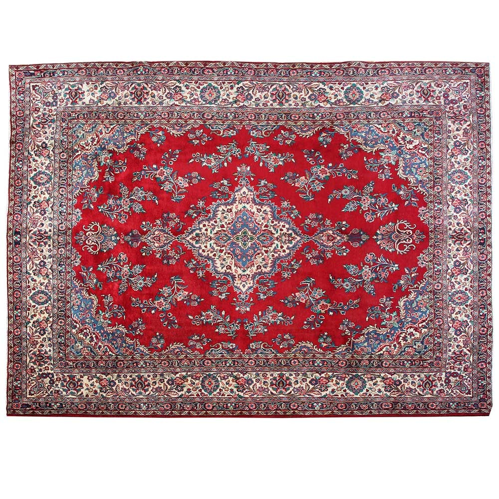 Hand-Knotted Persian Hamadan Wool Room Size Rug