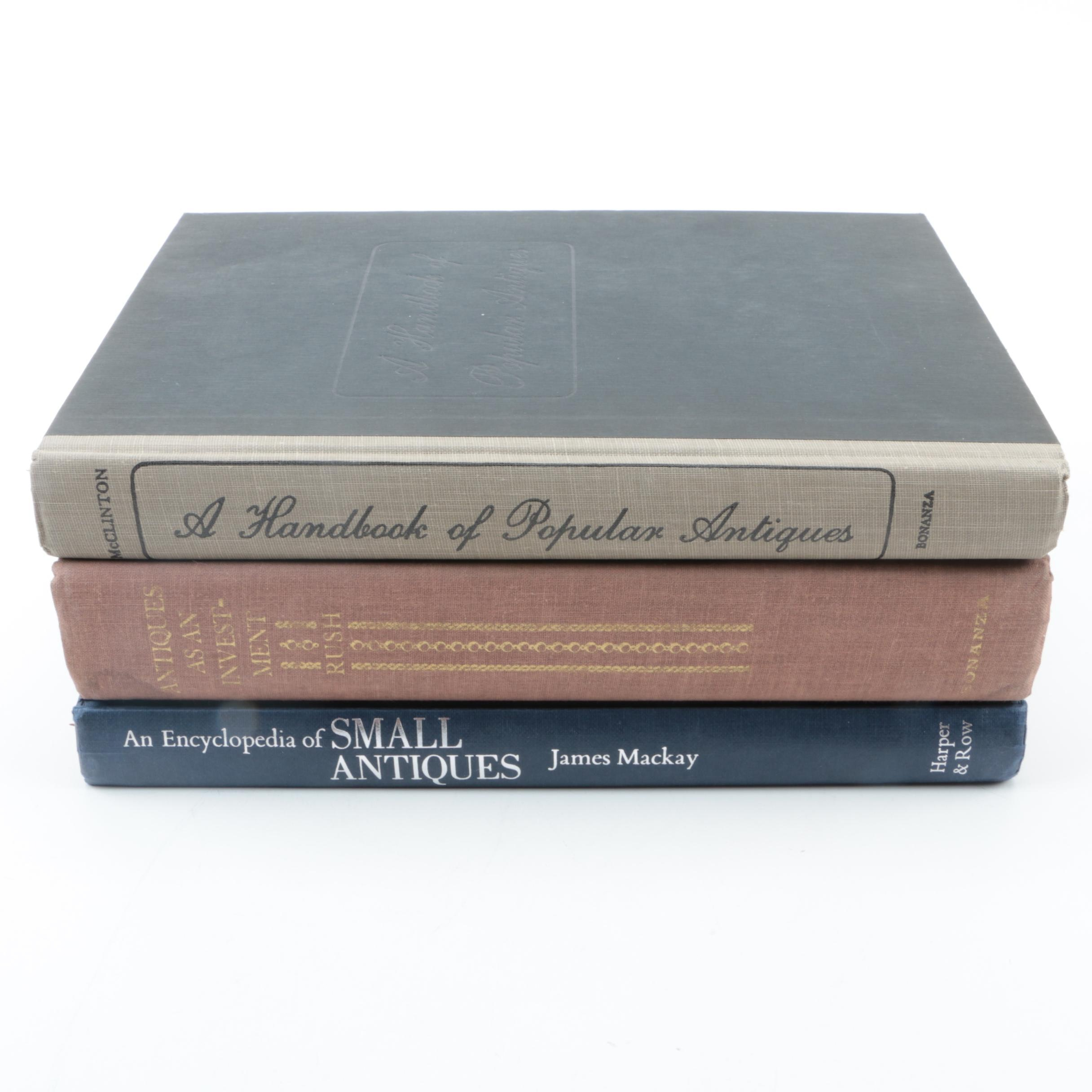 """Books on Antiques Including """"A Handbook of Popular Antiques"""""""