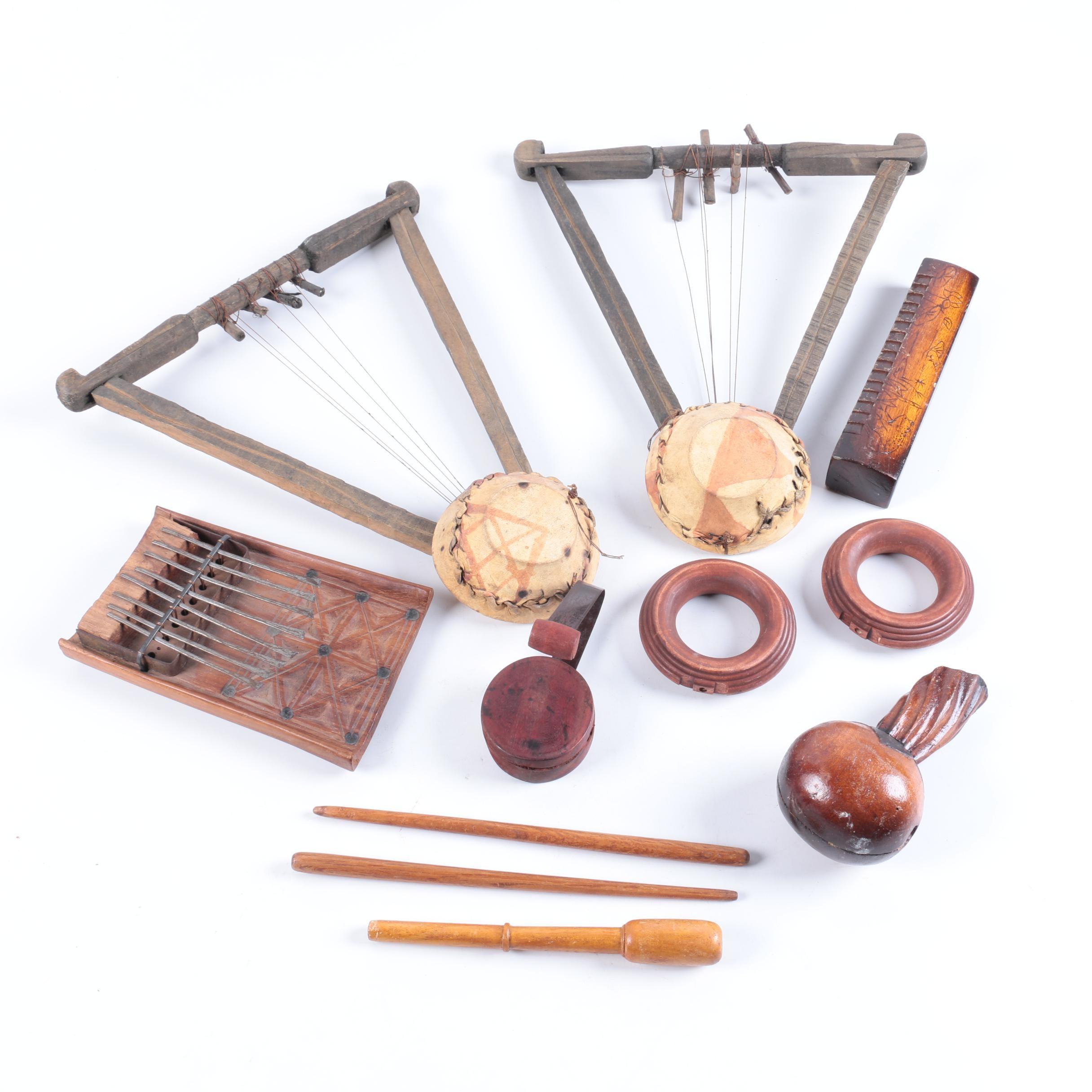 Kenyan Nyatiti Lyres, Kalimba Thumb Piano and Other Instruments