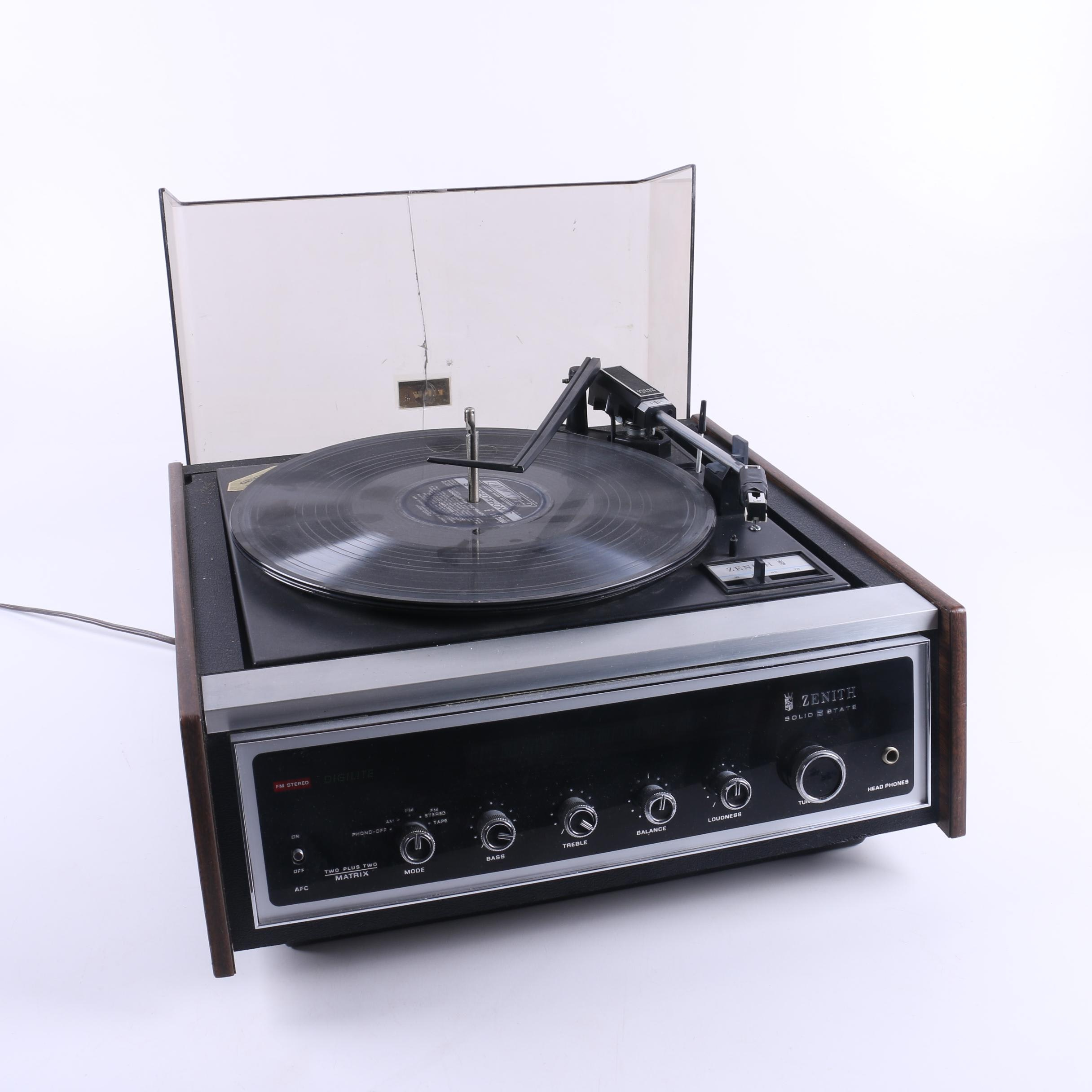 Zenith Solid State FM Stereo Record Player