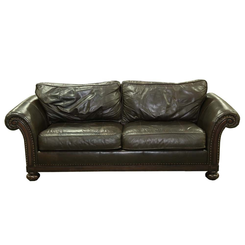 Leather Sofa by Bernhardt