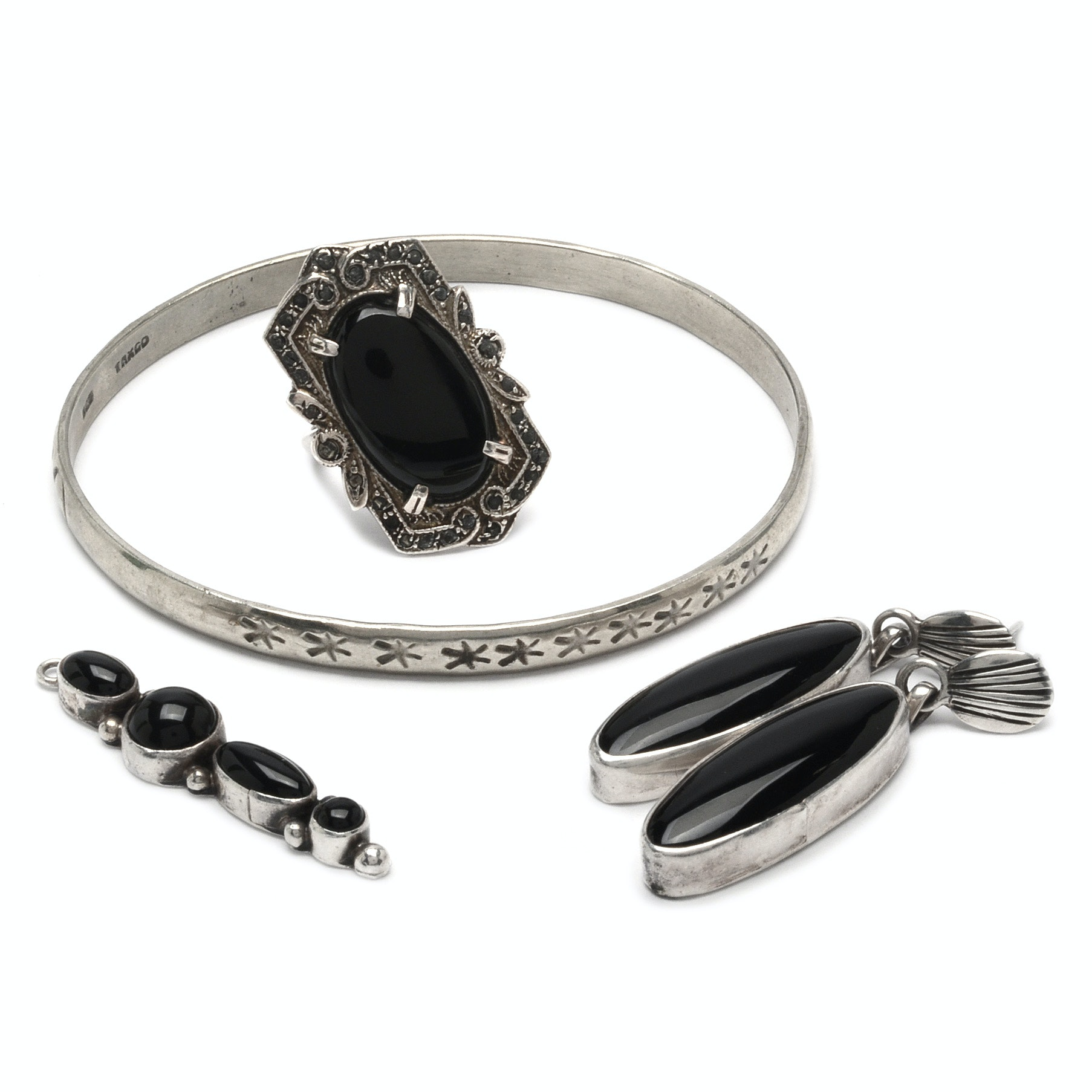 Sterling Silver and Black Onyx Jewelry