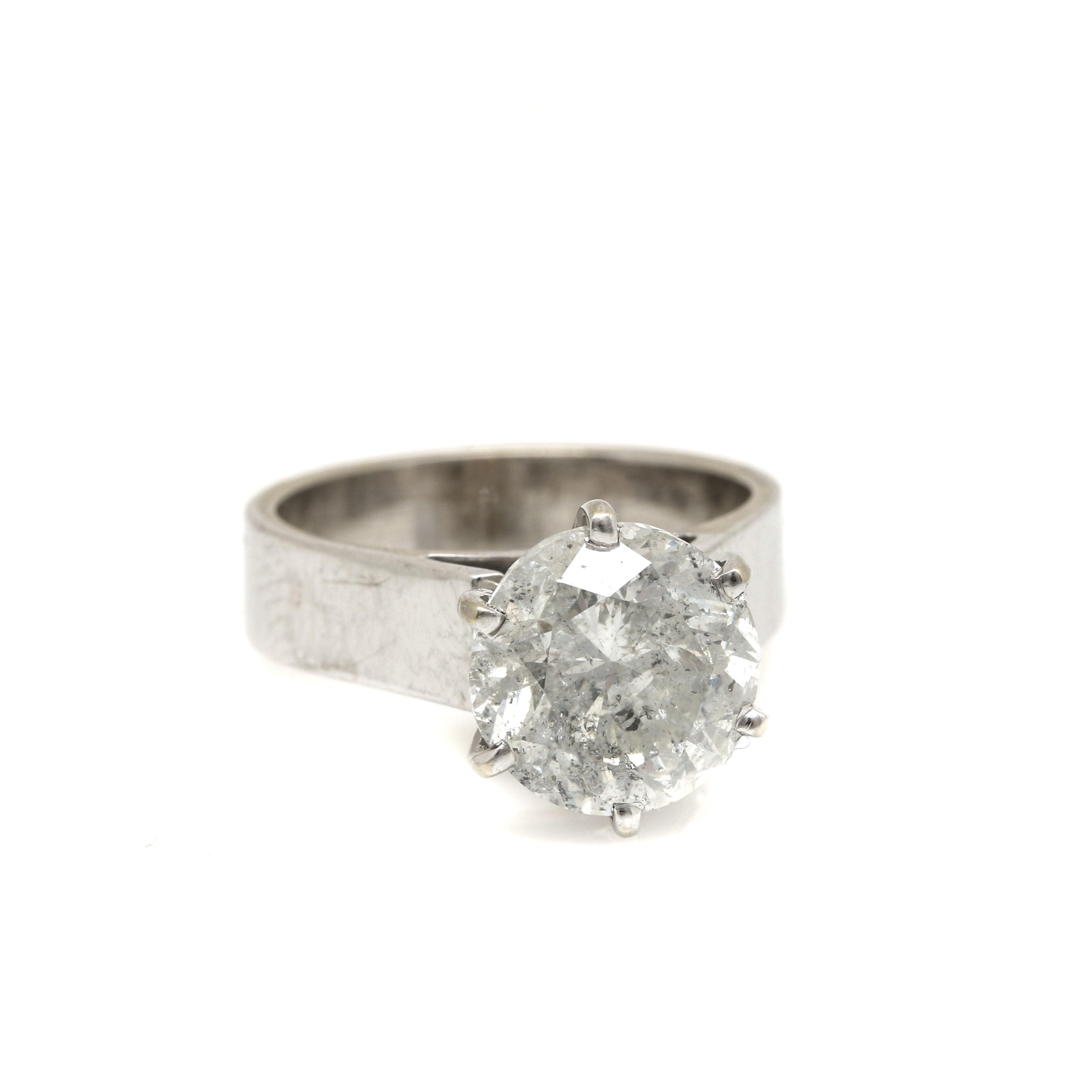 14K White Gold 3.54 CTW Diamond Ring