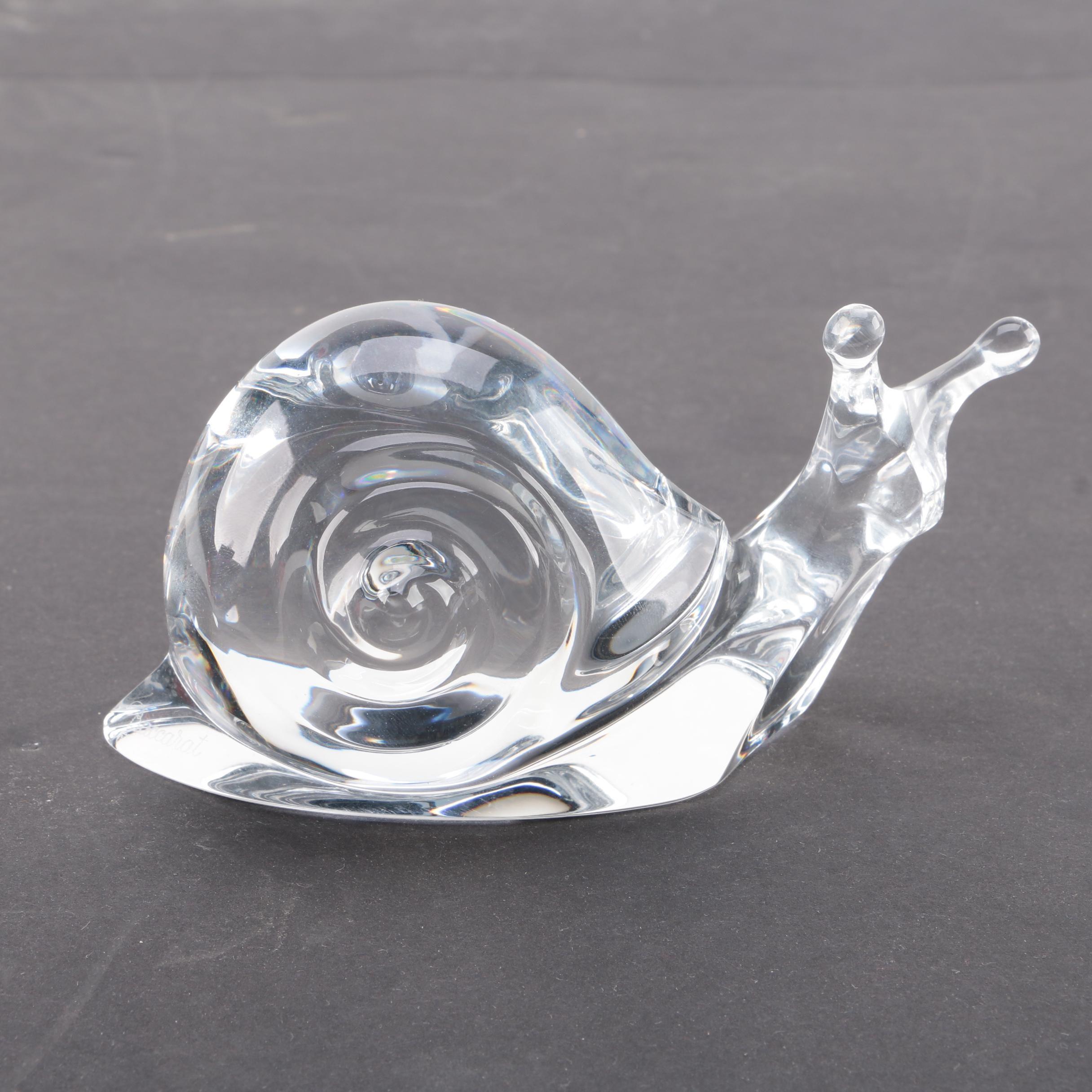 Baccarat Crystal Snail Figurine