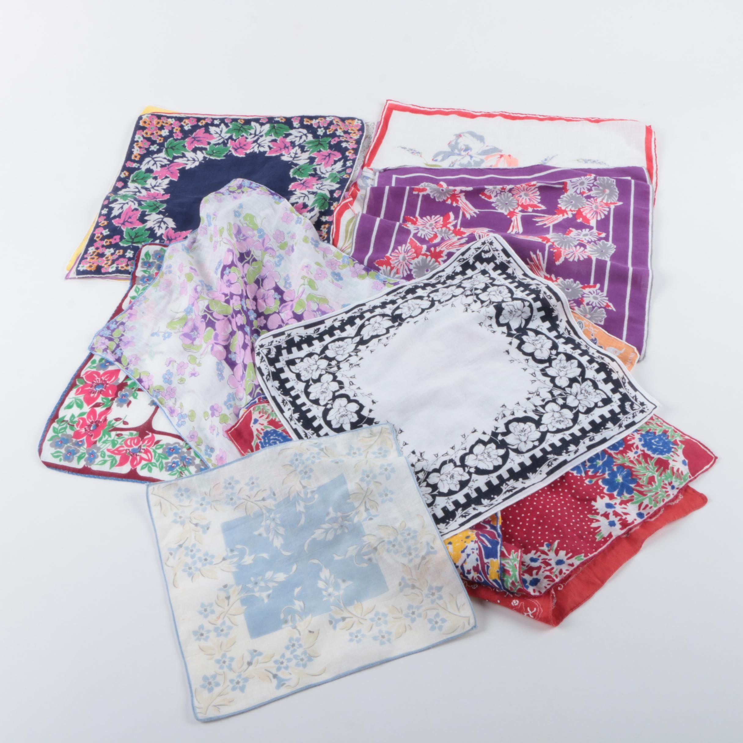 Women's Vintage Handkerchiefs Including Mickey Mouse