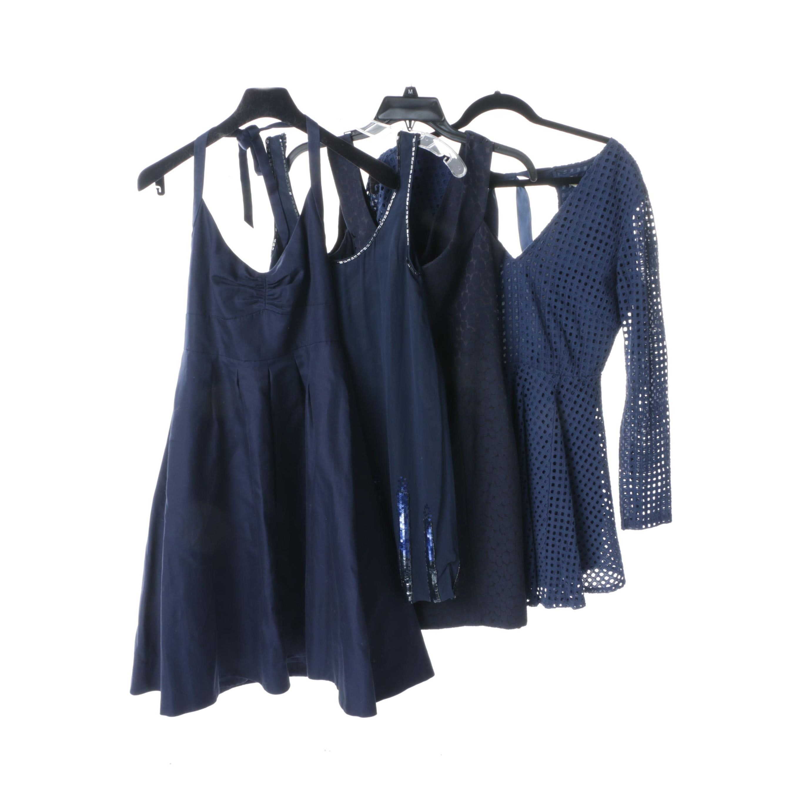Navy Blue Cocktail Dresses Including Silk Charlotte Ronson