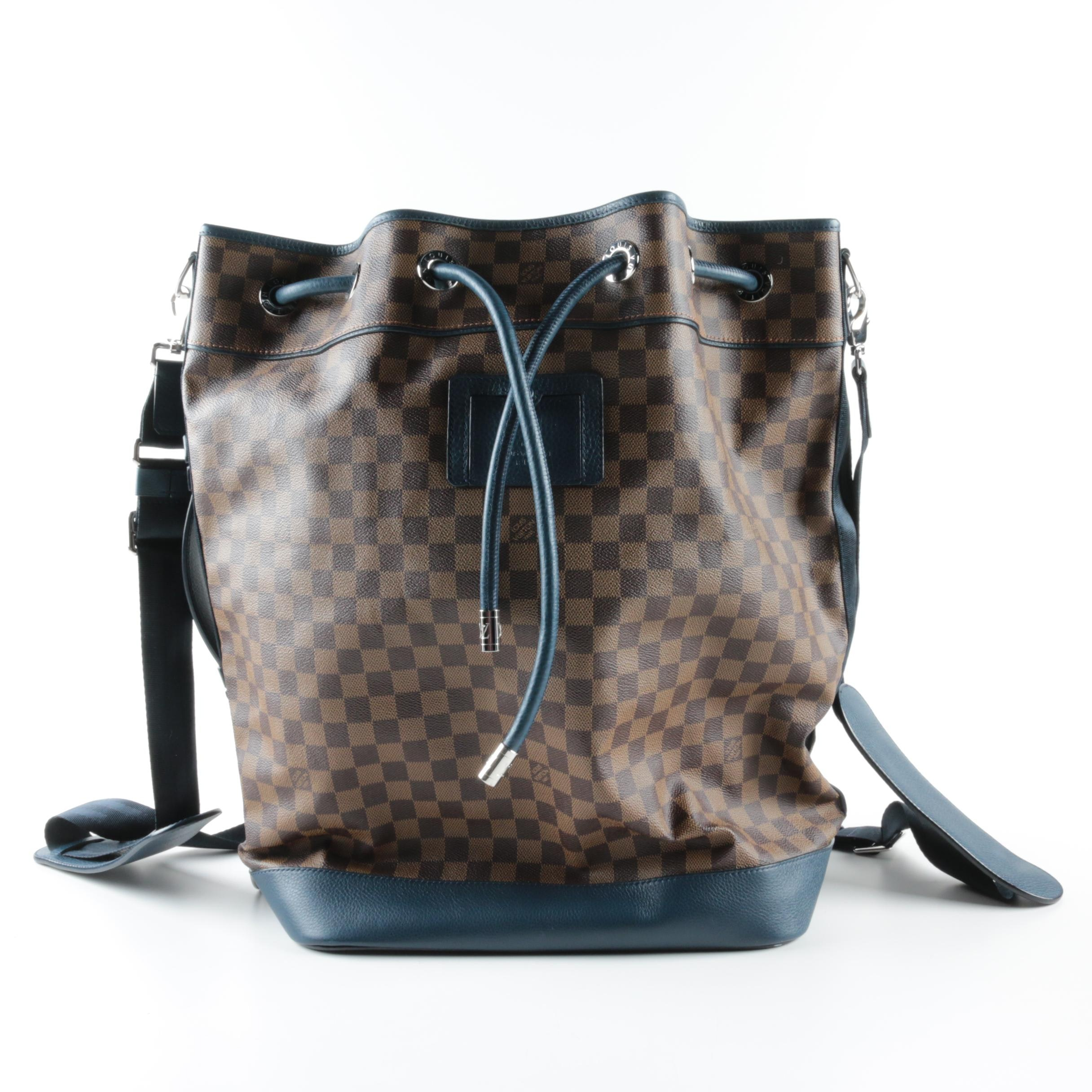 Louis Vuitton Damier Ebene Sac Marin Blue Backpack