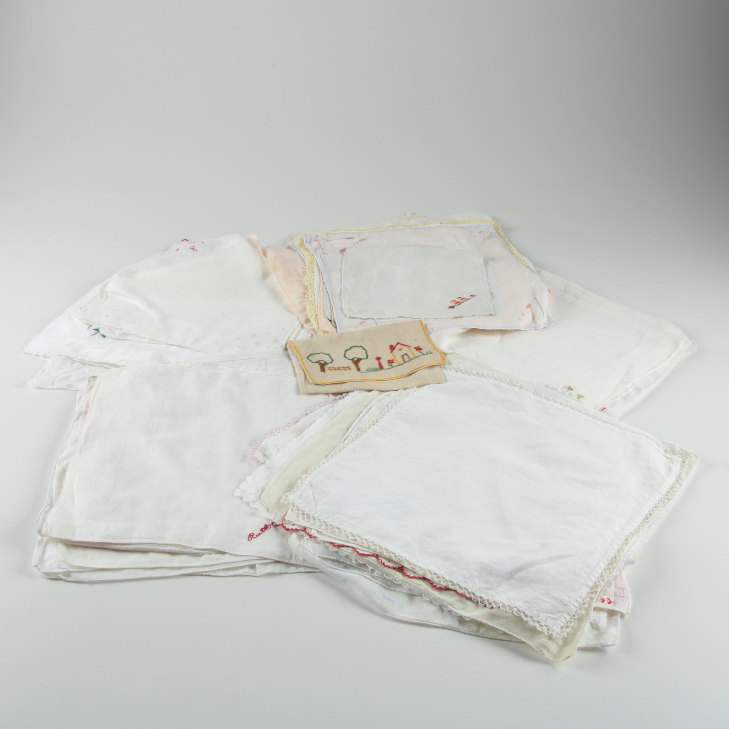 Vintage Cotton and Linen Handkerchiefs