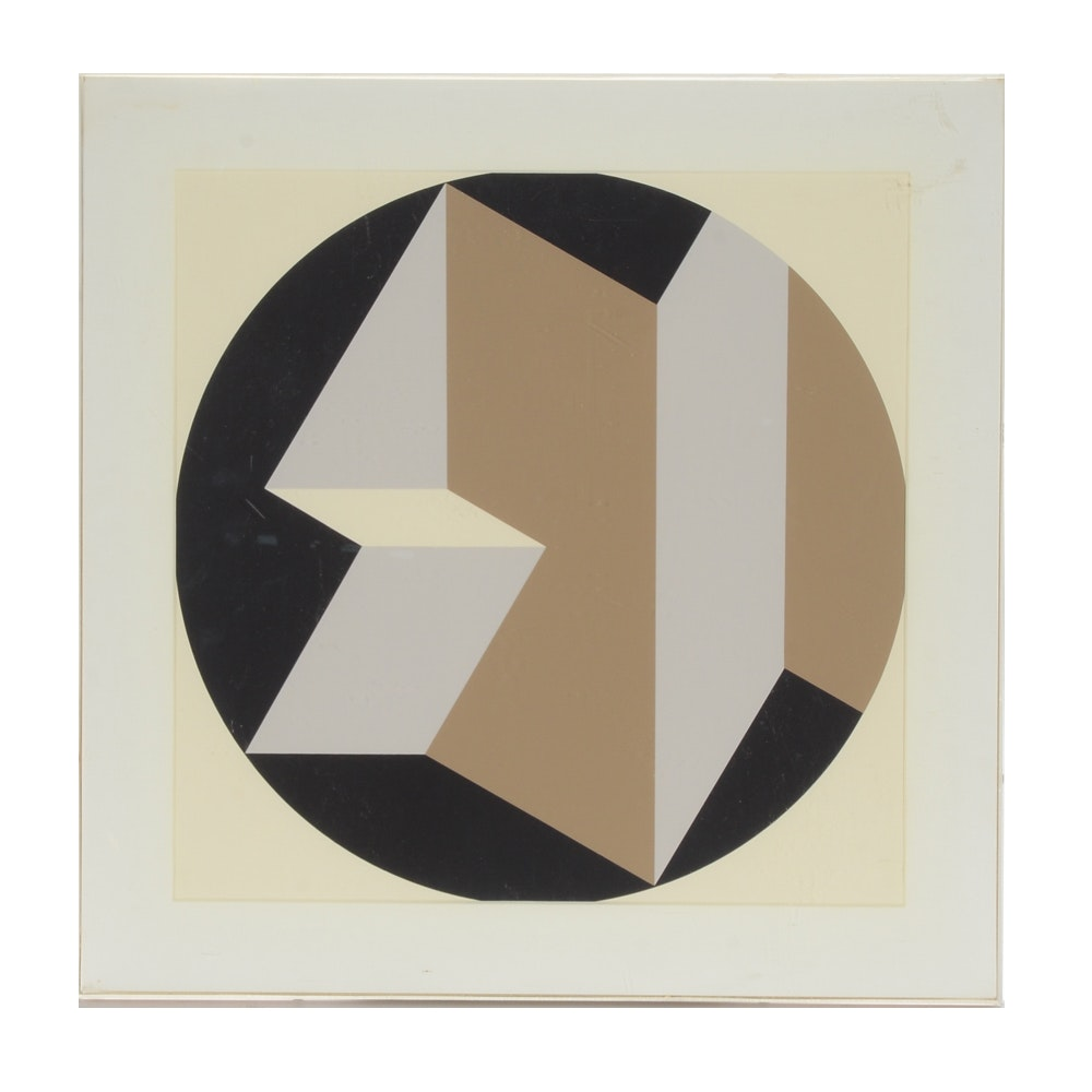 Rinaldo Paluzzi Abstract Serigraph on Paper