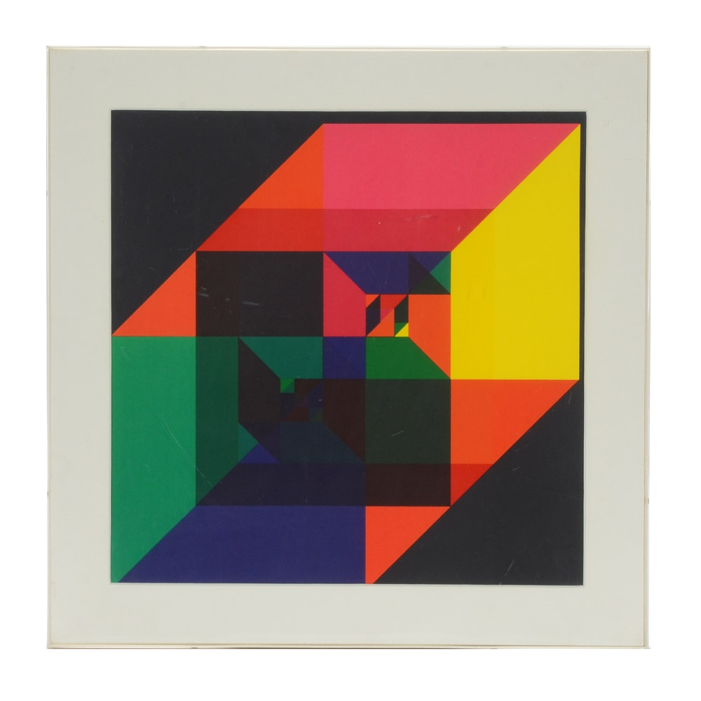 Timo KW. Heimann Abstract Lithographic Print on Paper