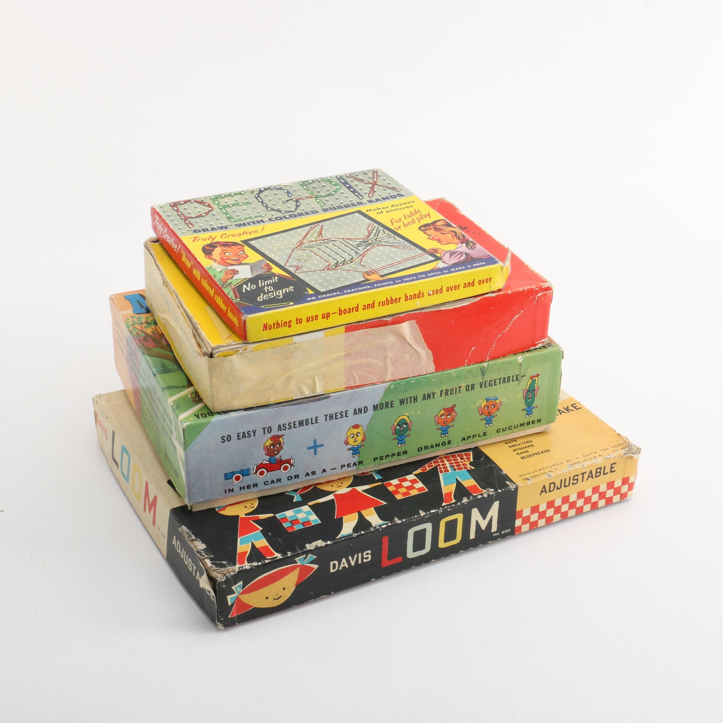 Vintage Board Games and Craft Toys