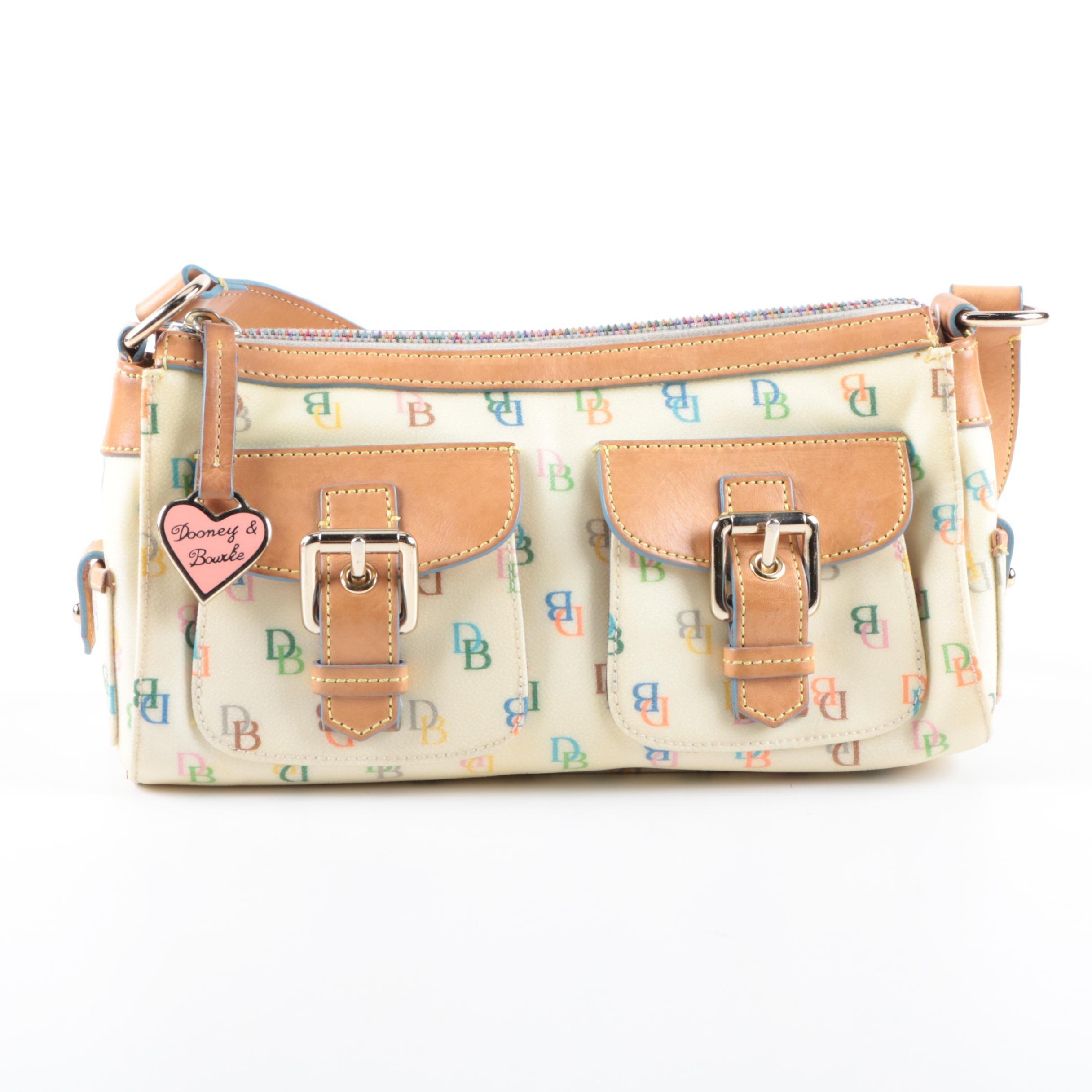 Dooney & Bourke Monogrammed Coated Canvas Handbag