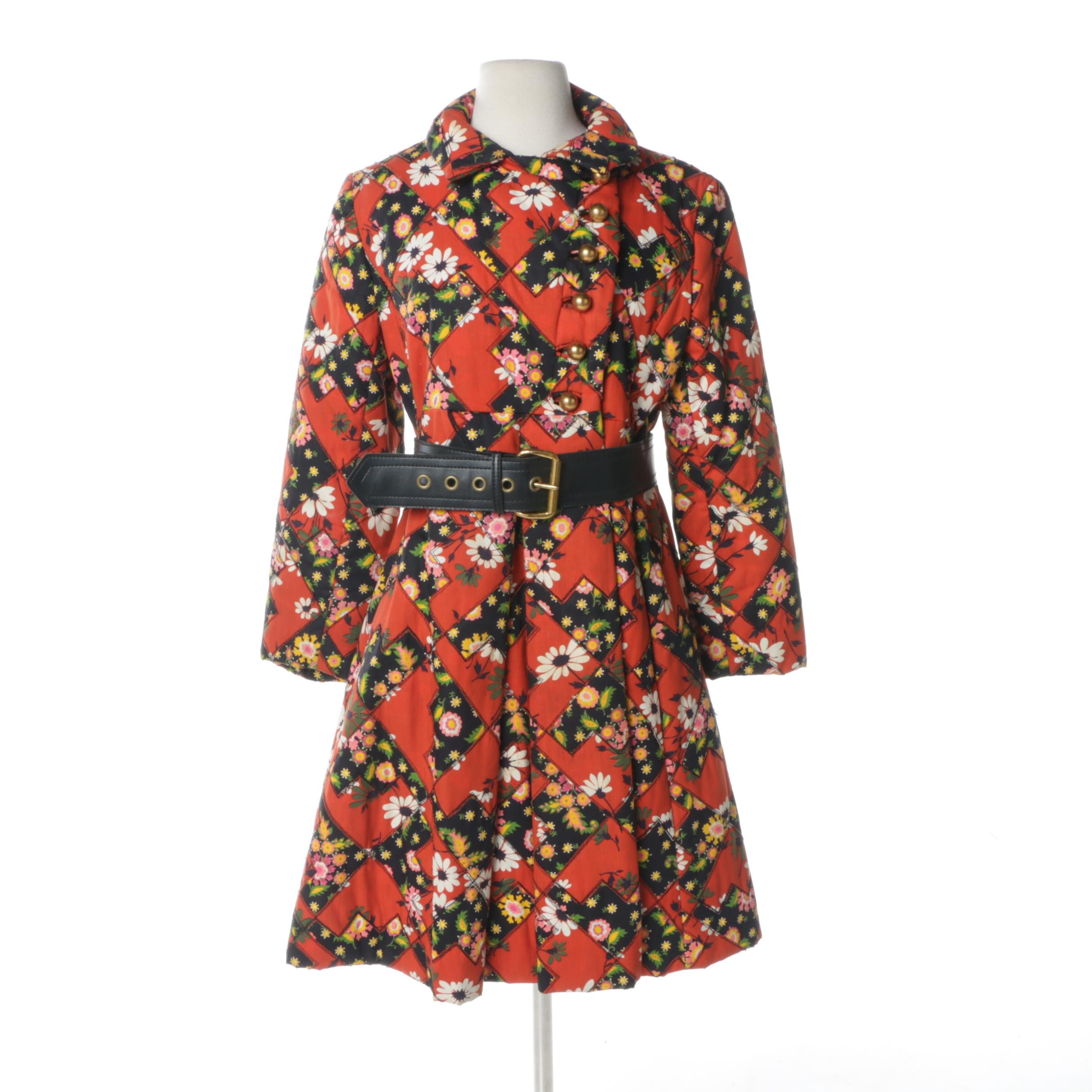 Circa 1960s Vintage Belted Swing Coat